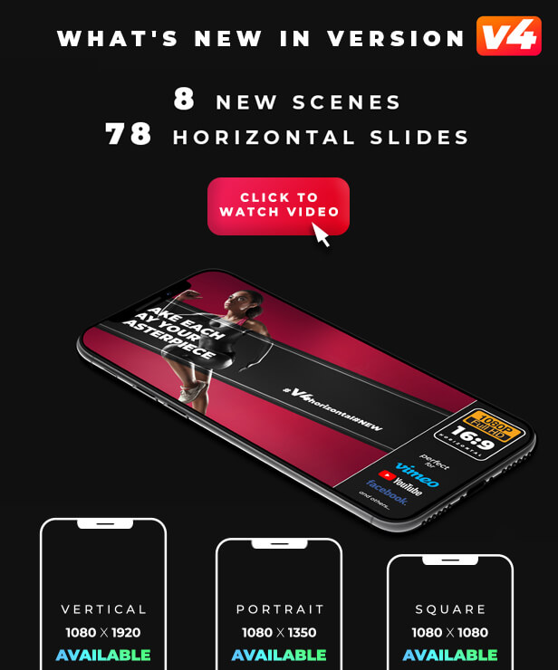 Ae模板 470+手机竖屏社交媒体资源包 Instagram Stories V4