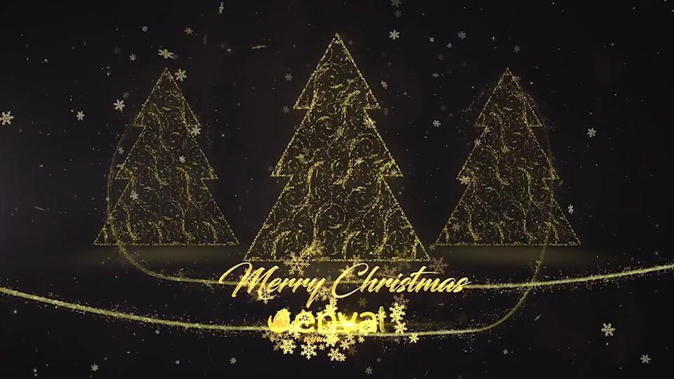 motion模板 圣诞节标题介绍预告片模板 Christmas Apple Motion