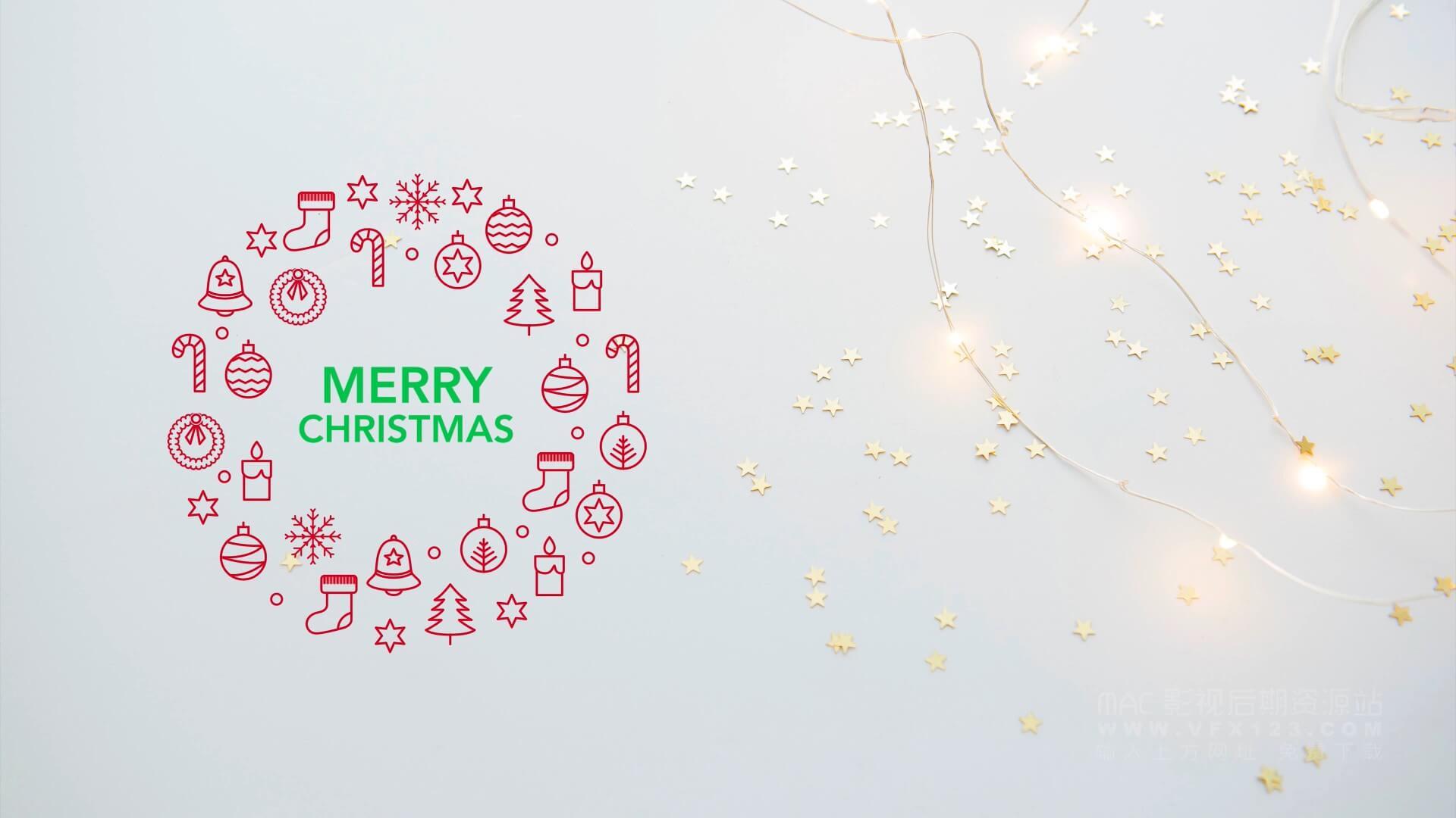 fcpx插件 14个圣诞节标题模板 christmas titles