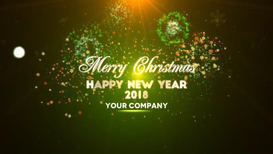 Motion模板 圣诞节开场片头 粒子烟花效果 merry christmas 兼容fcpx