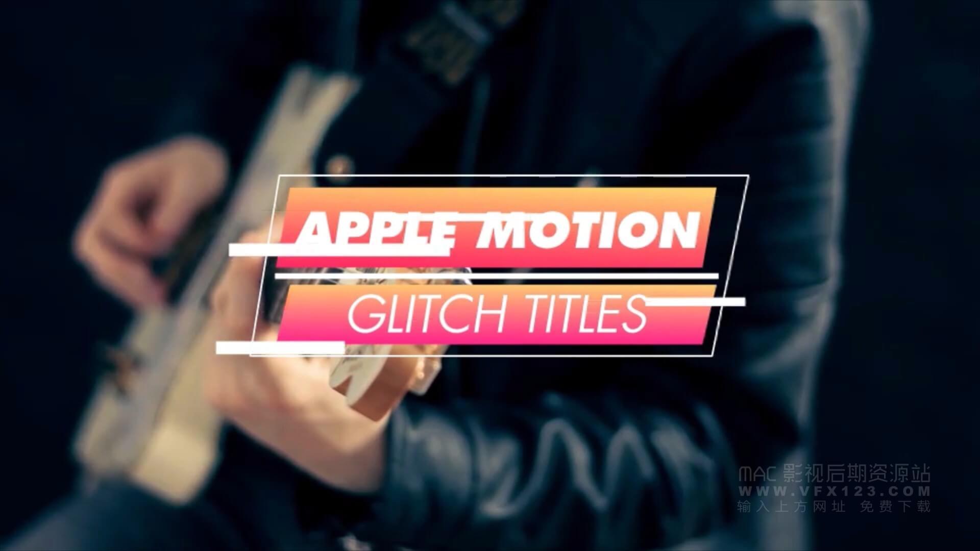 motion模板 15个彩色信号干扰效果标题模板 Colourful Glitch Titles