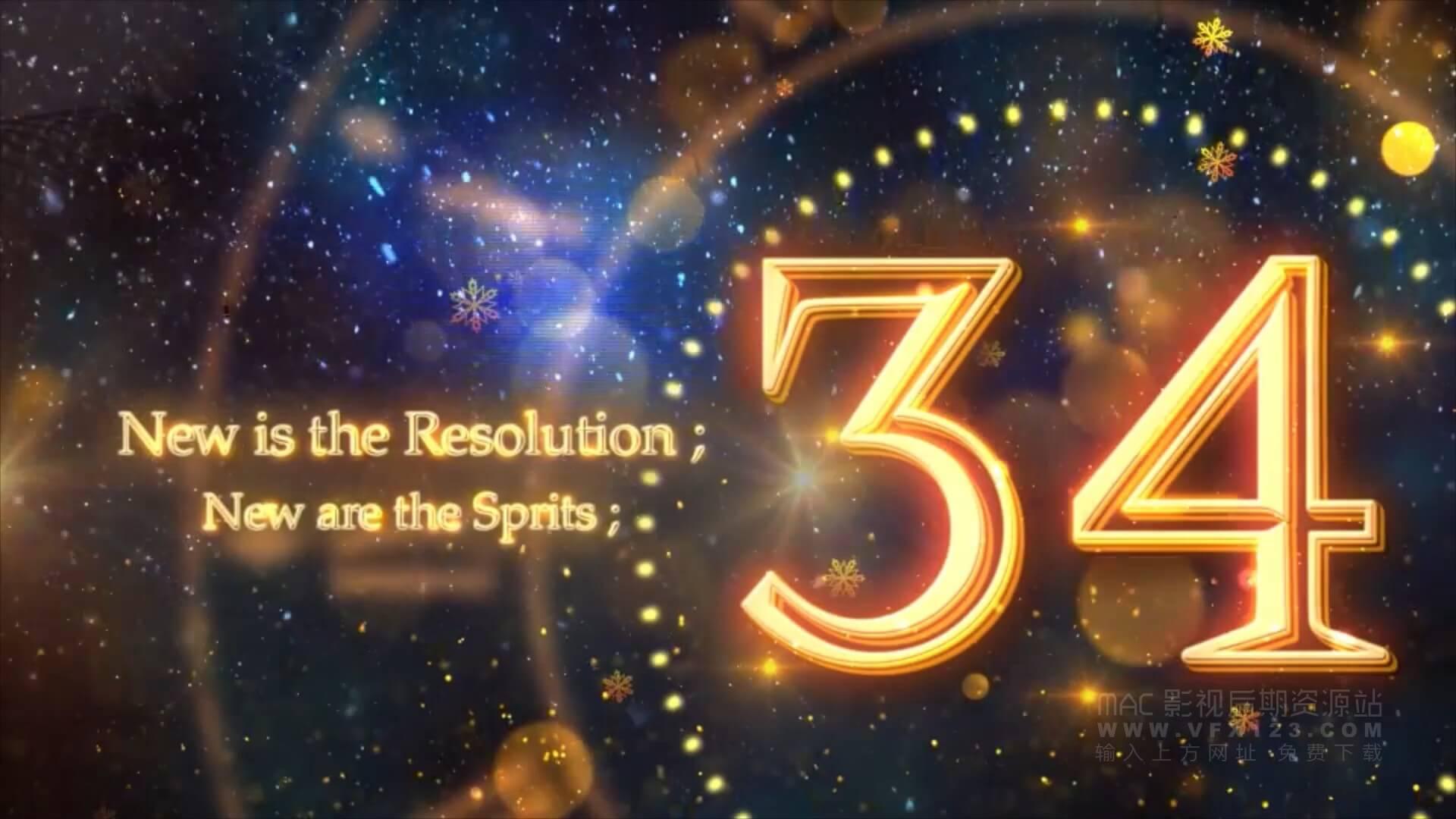 Ae模板 新年派对典礼庆祝活动动态倒计时 New Year Countdown 2019