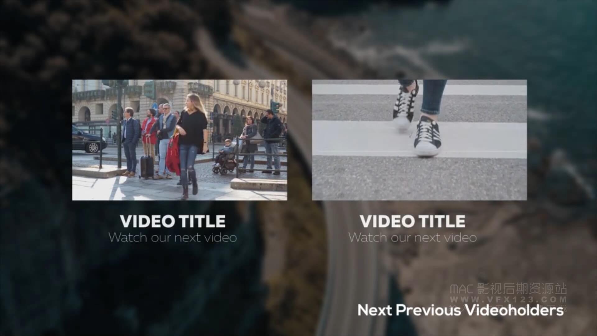 FCPX标题插件 41个社交自媒体工具包 Youtube Channel Kit 2
