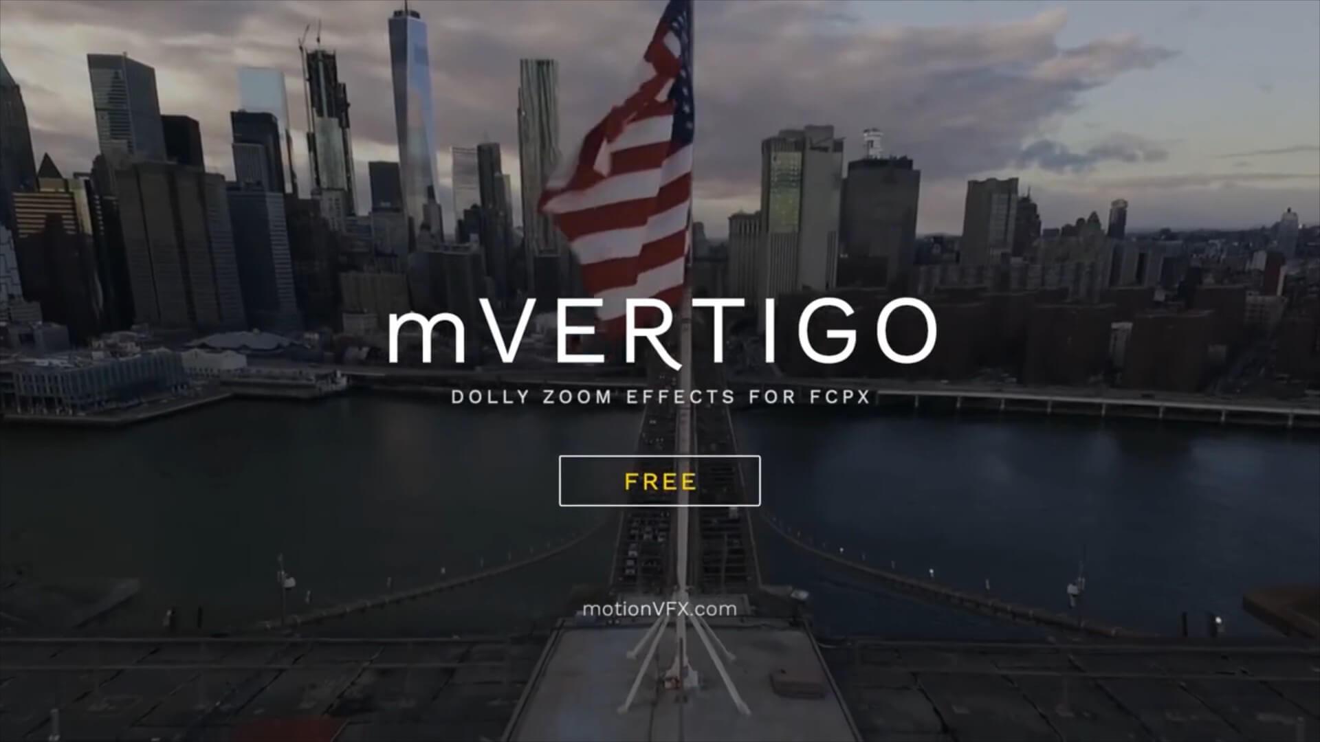 fcpx插件 移动轨道摄影车推拉缩放视觉效果 mVertigo vlog常用插件 | MAC影视后期资源站