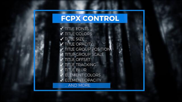 fcpx插件 25个4K商务干净简单蓝色标题文本动画