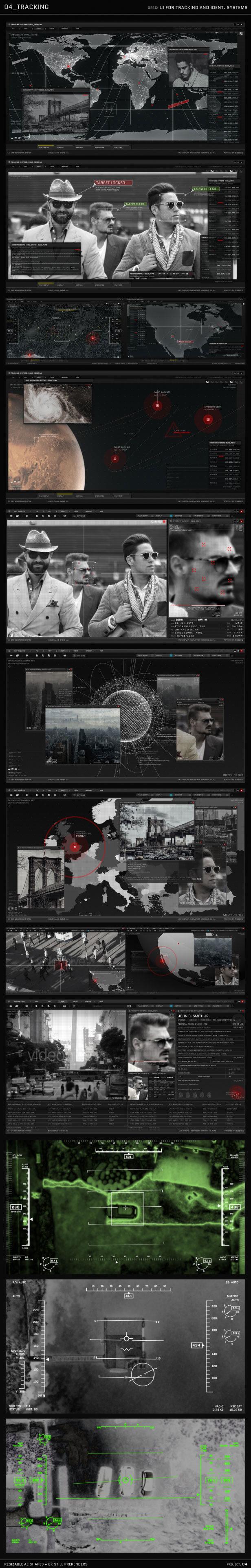 AE模板 HUD动画图形包电影电视游戏UI图形设计元素 | MAC影视后期资源站