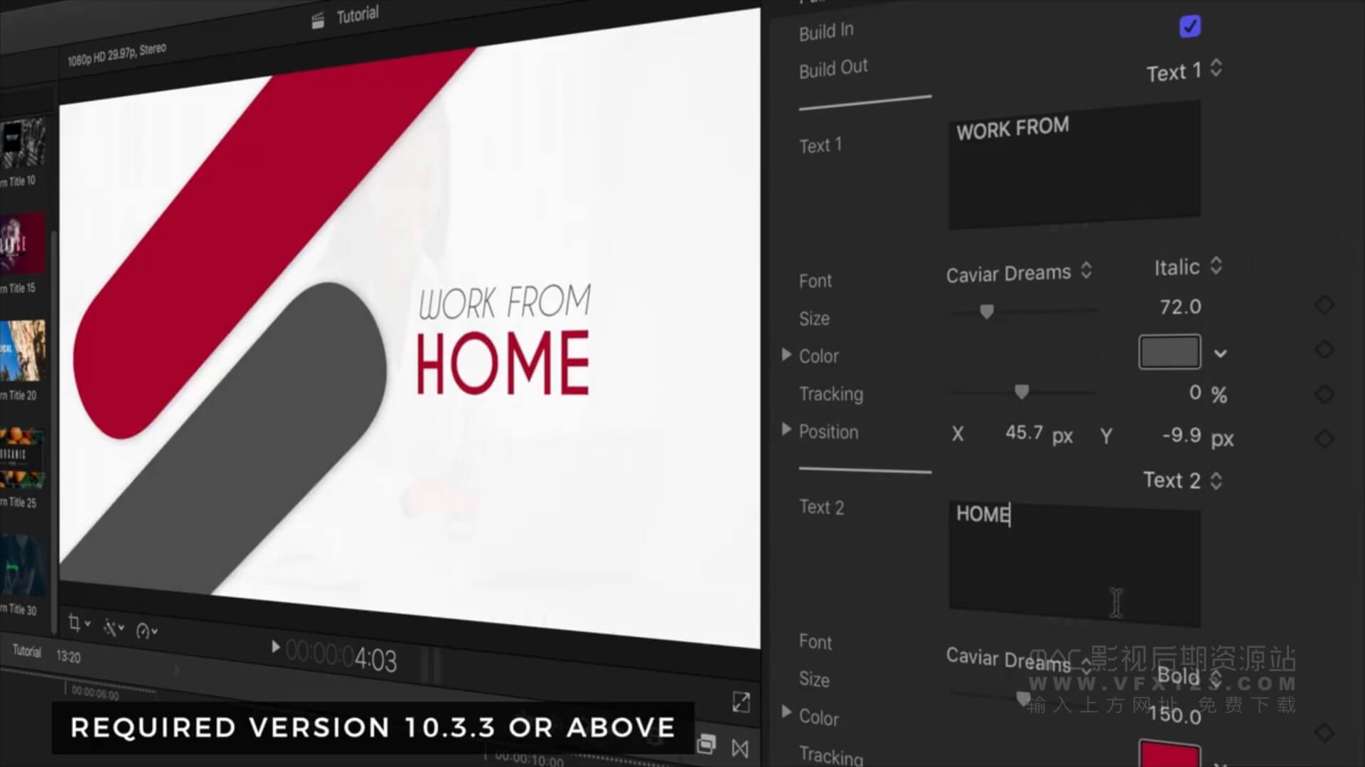 Fcpx插件 30种现代超酷文字标题设计排版动画+教程 | MAC影视后期资源站