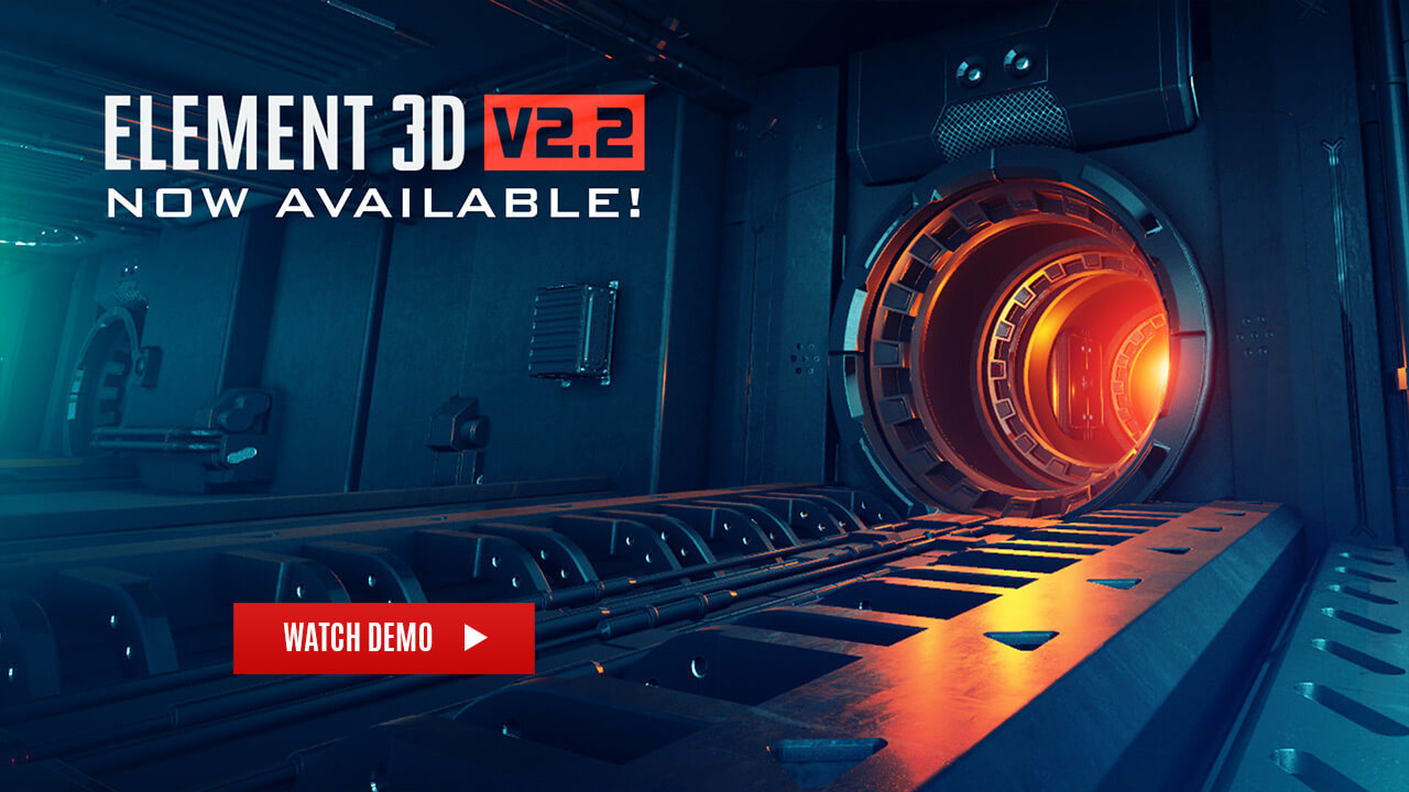 Video Copilot Element 3D E3D三维模型AE插件 WIN+MAC版