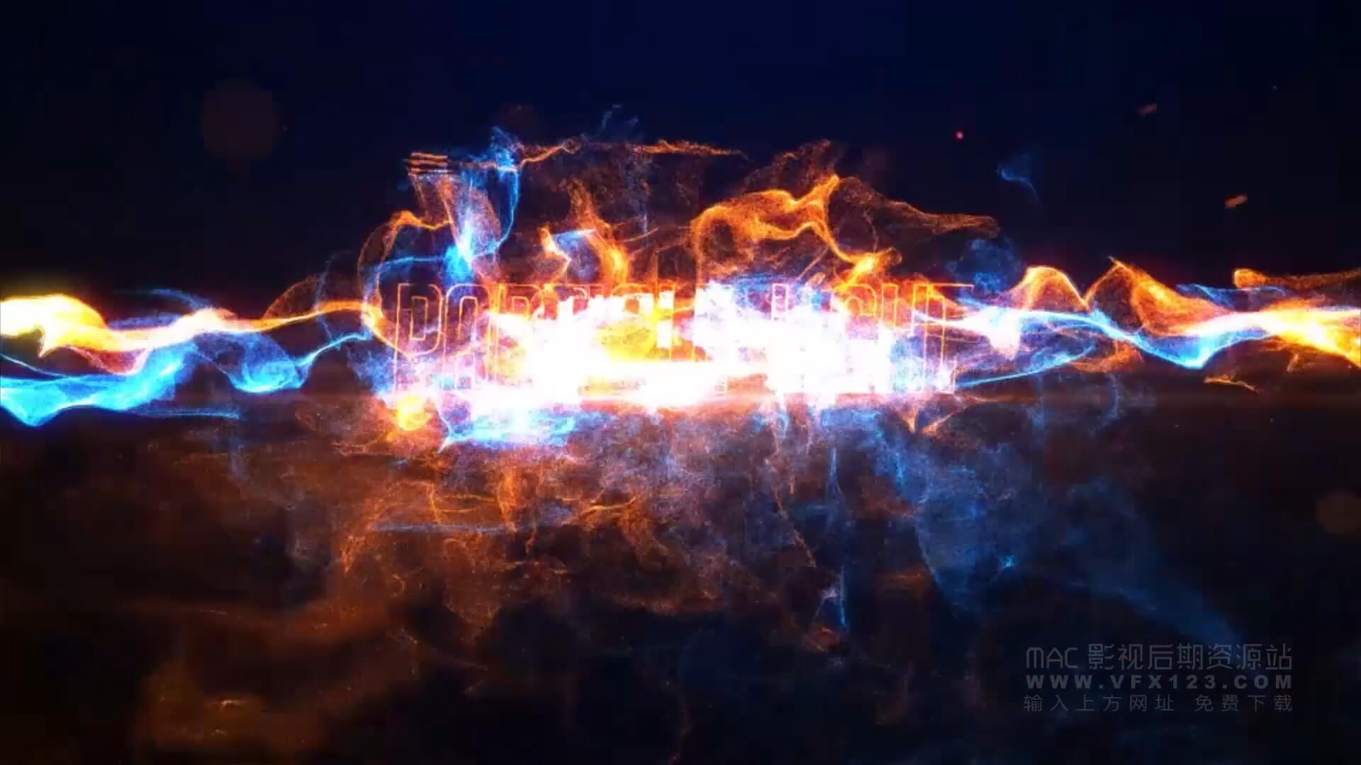AE模板 震撼粒子效果徽标LOGO展示模板 Particle Light Reveal