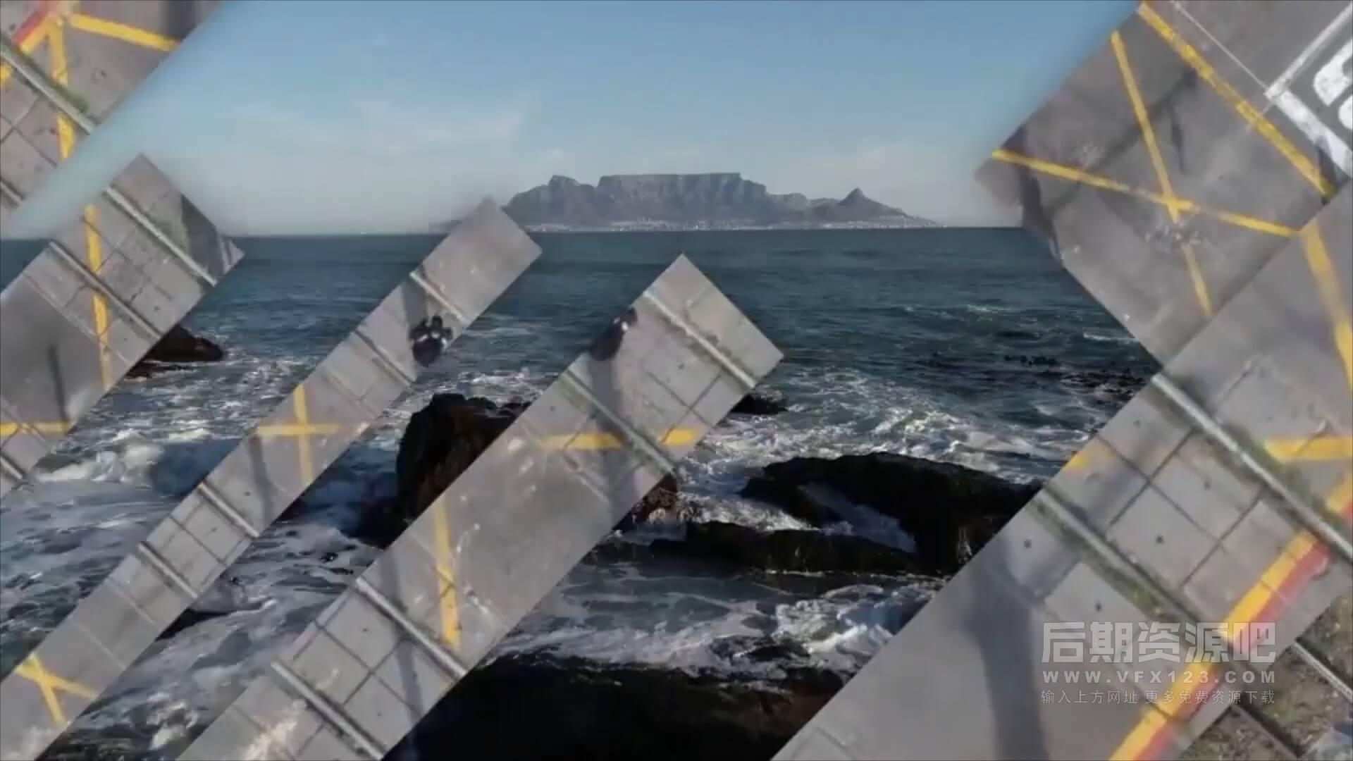 fcpx插件 62个图形切割遮罩分屏视频转场集合 含音效 Slice Transitions