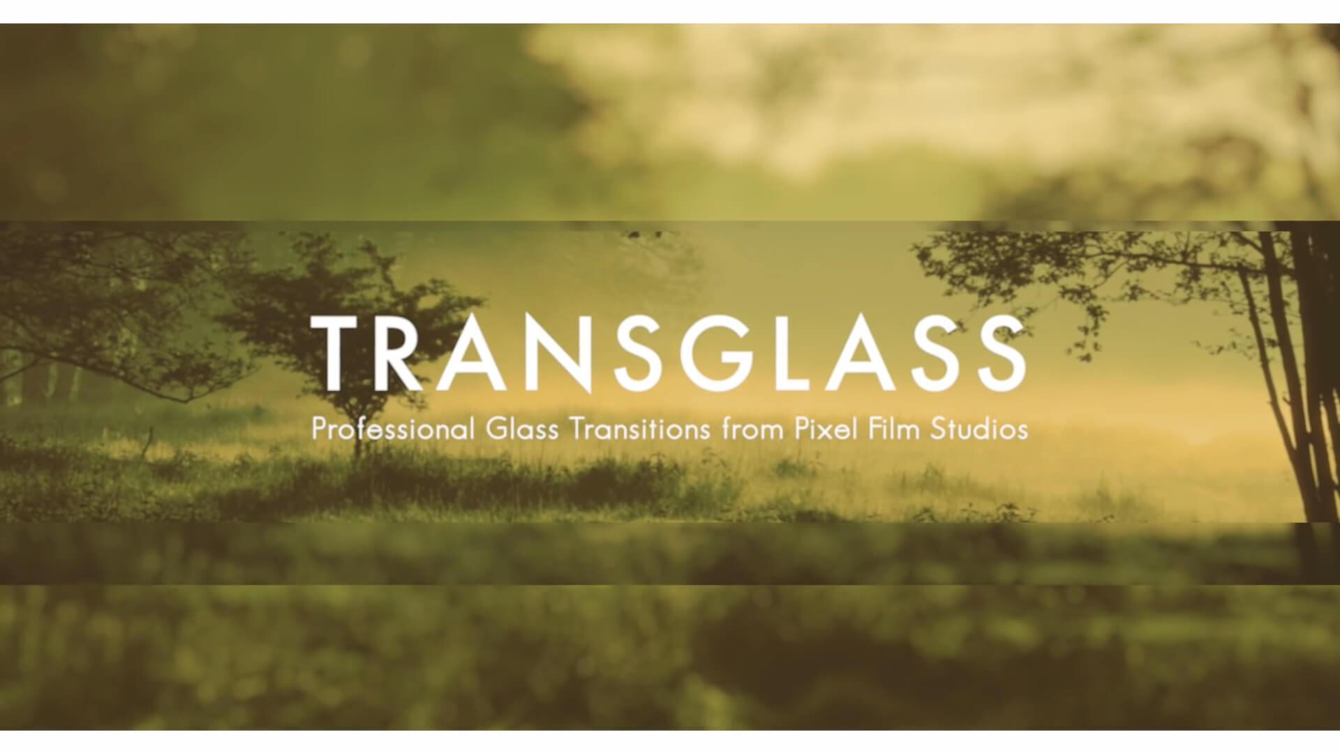 fcpx转场插件 简约时尚磨砂玻璃质感风格转场 TransGlass