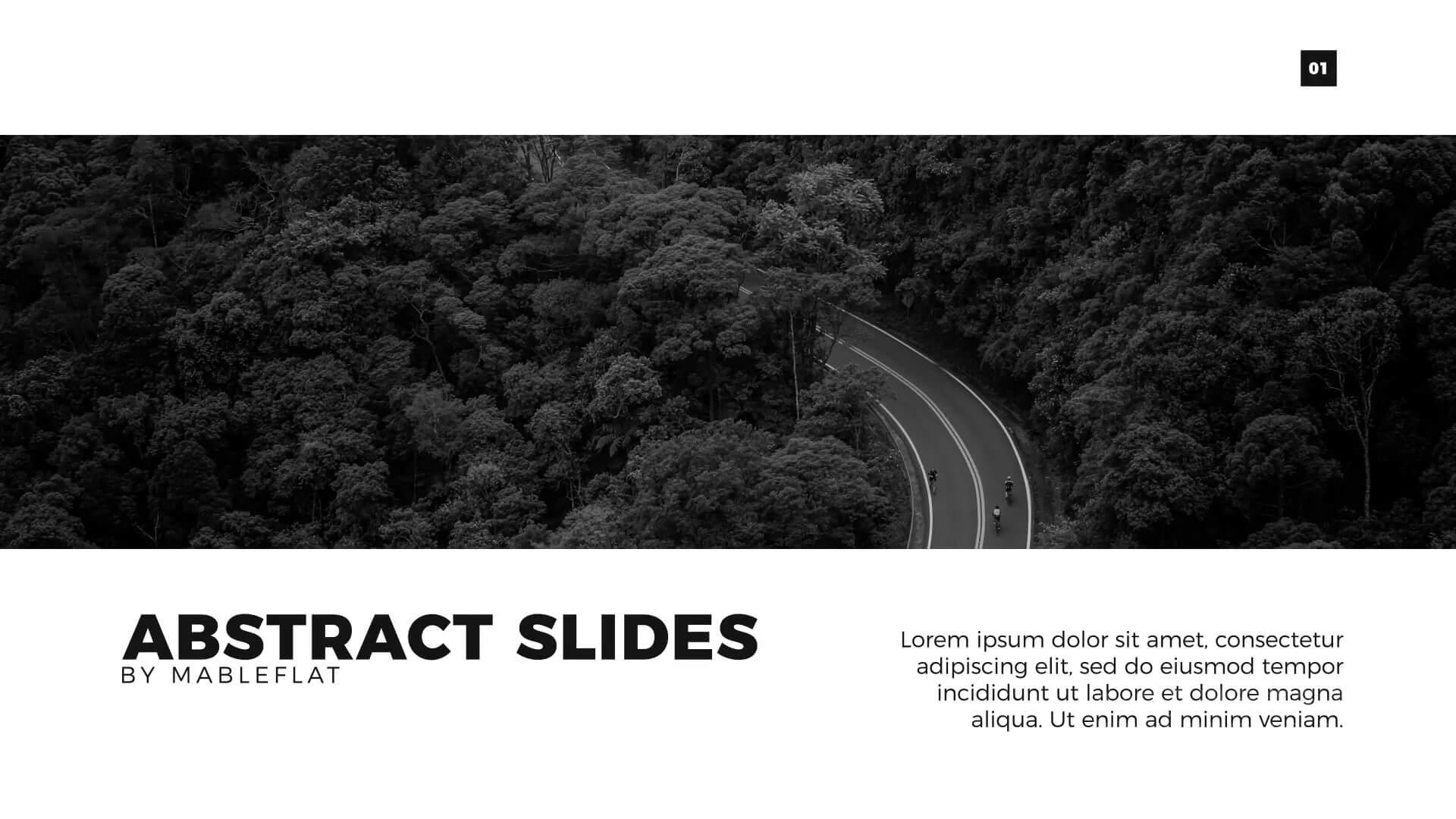 AE模板 公司商务风格侧边栏演示标题排版动画 Animated Slides   MAC影视后期资源站
