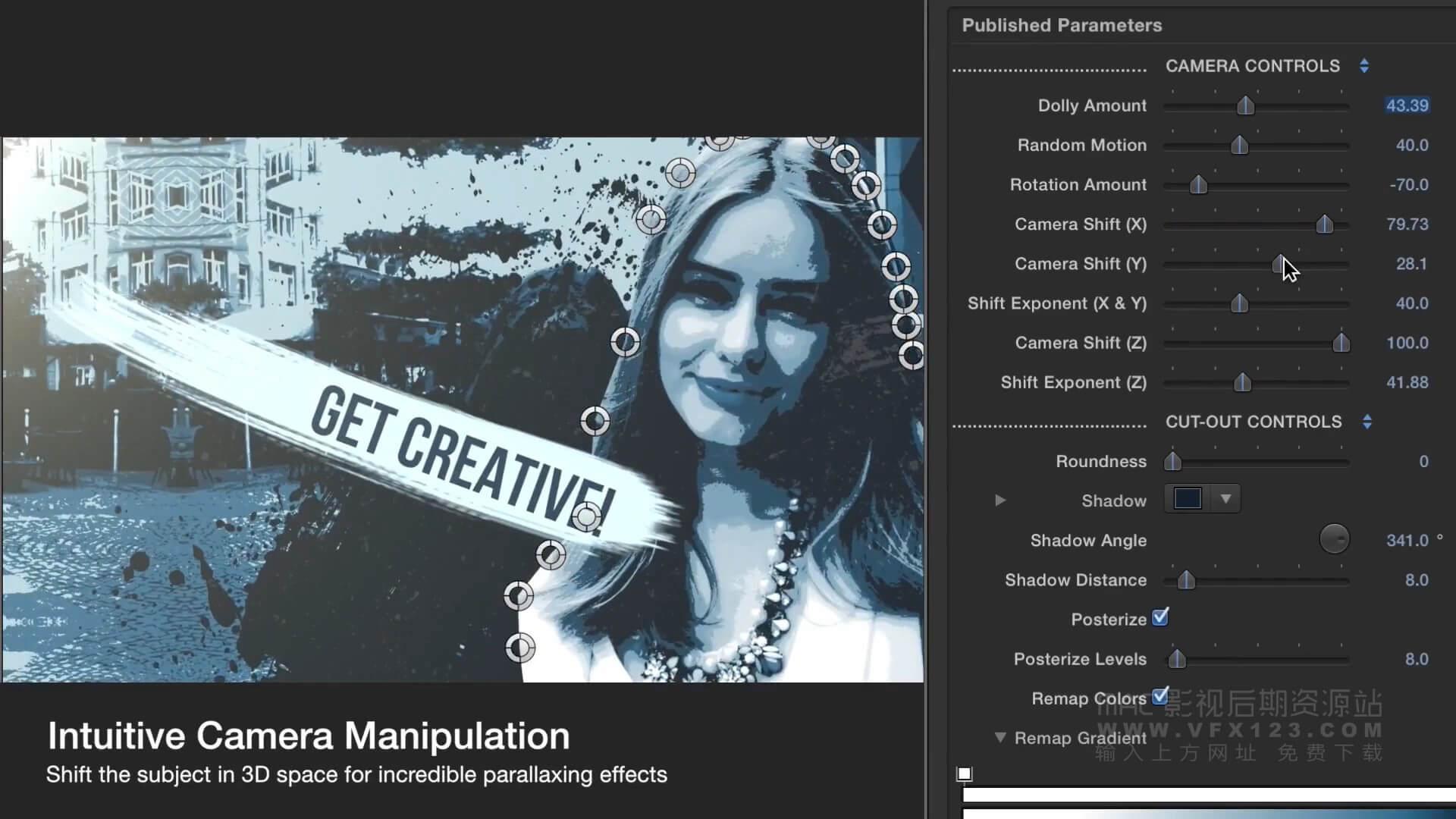 Fcpx插件 画面帧冻结泼墨飞溅动态视觉效果 ProFreeze Splatter