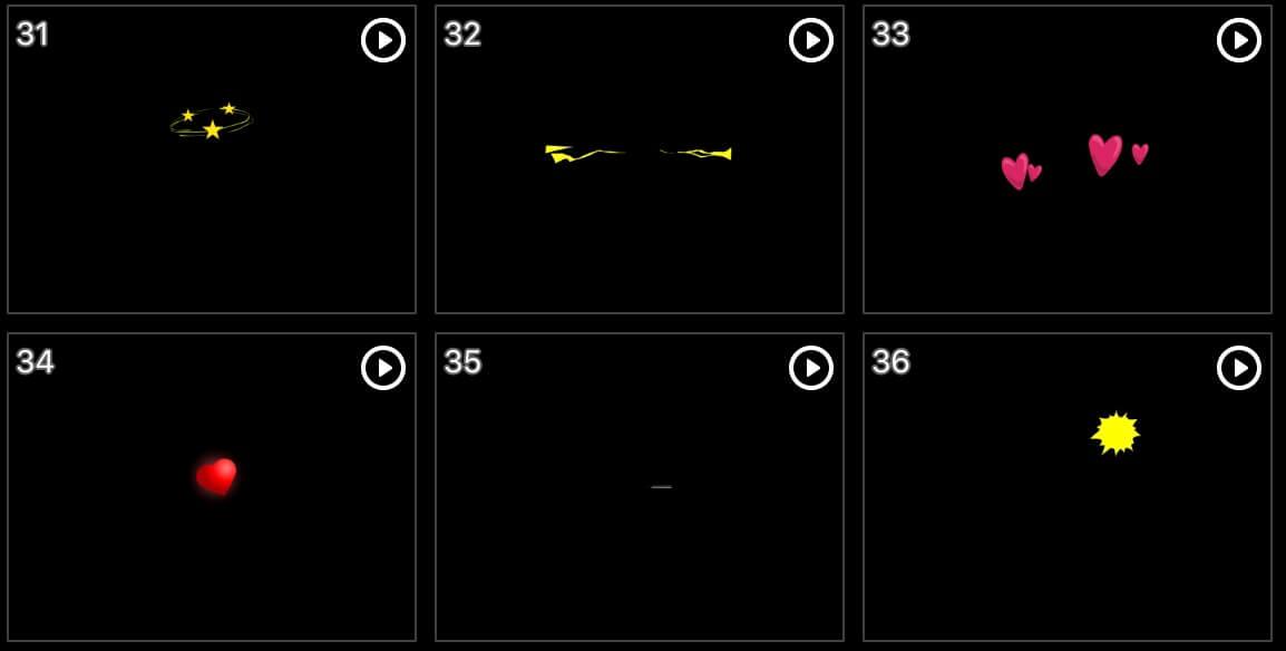 视频素材 综艺节目弹幕表情动画真人秀MOV格式含音效 | MAC影视后期资源站