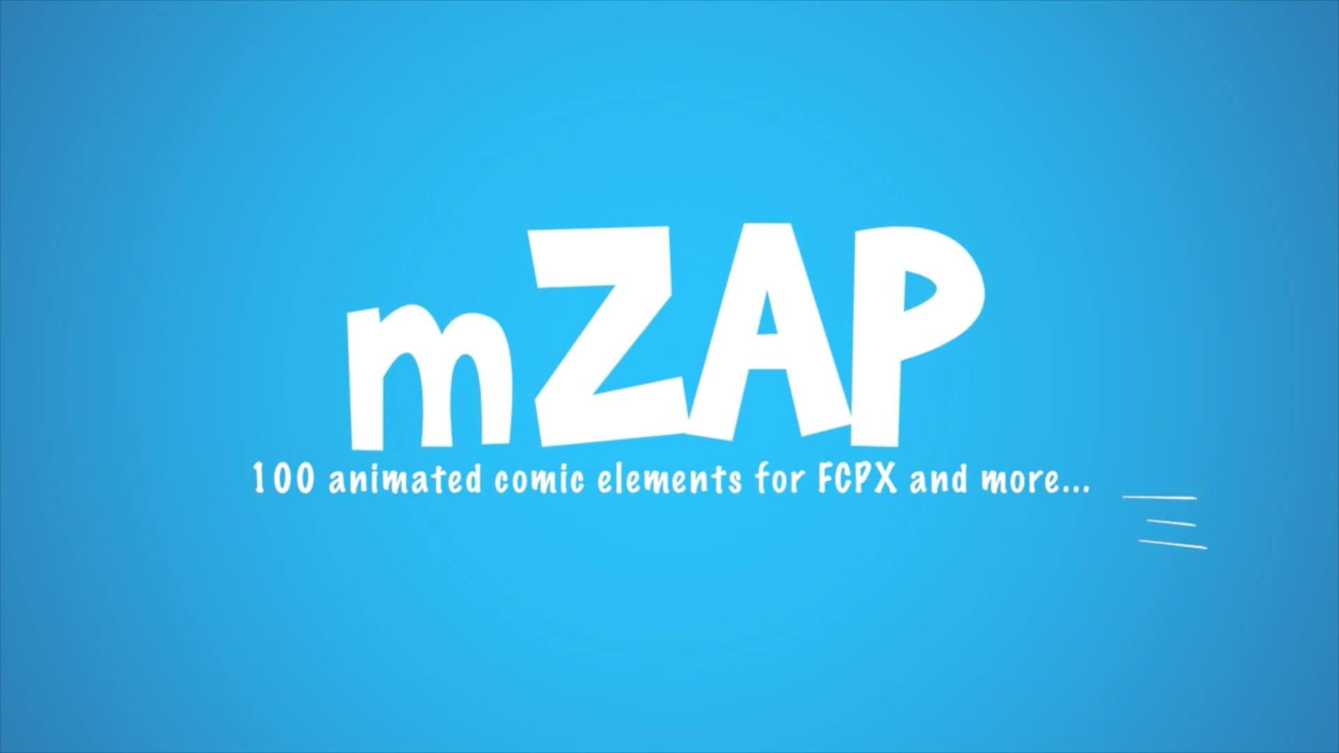 fcpx插件 100个卡通动漫流体MG动画元素包 Motionvfx mZap