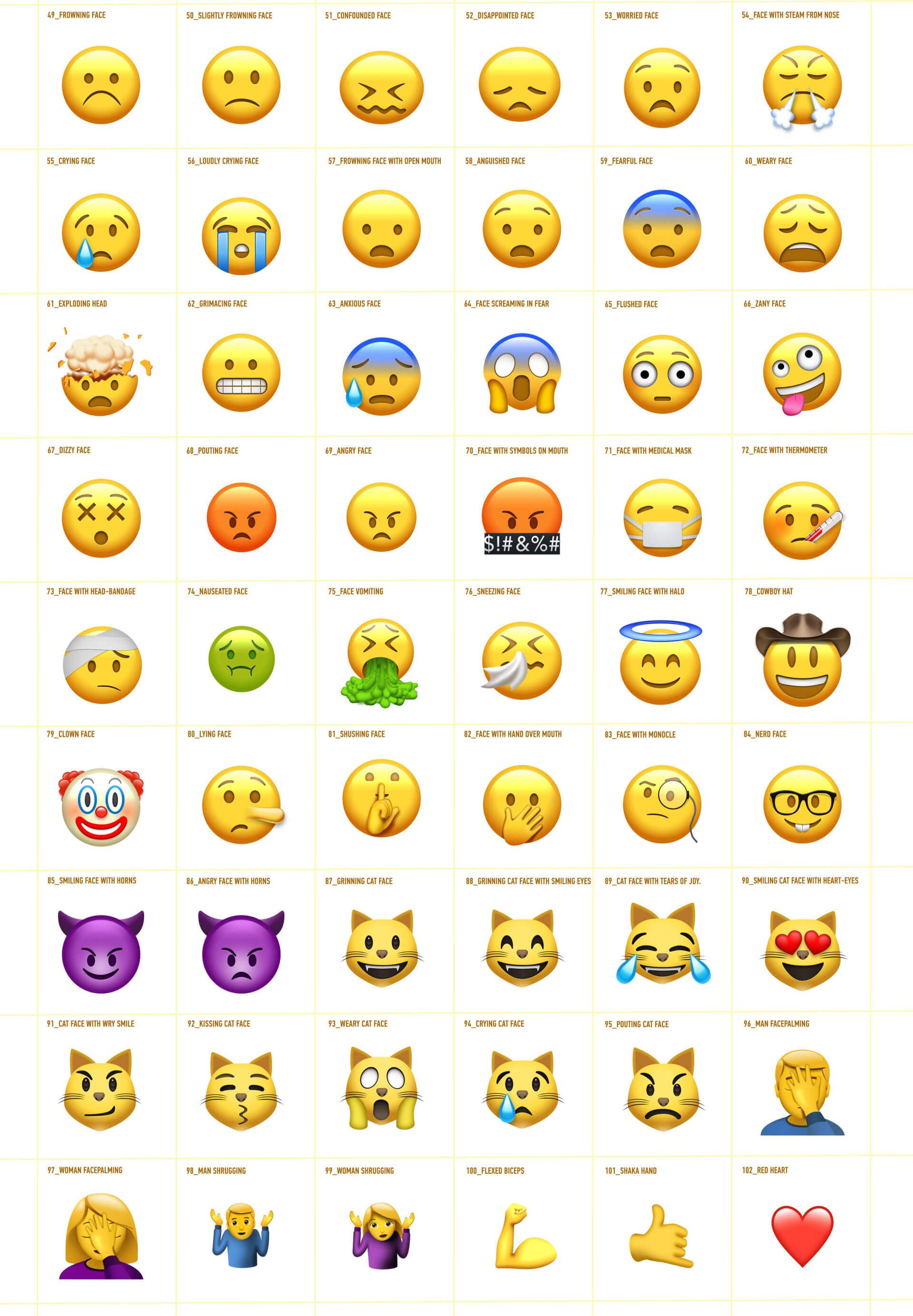 AE模板 102个可爱卡通社交网络Emoji表情动画+渲染好的视频素材