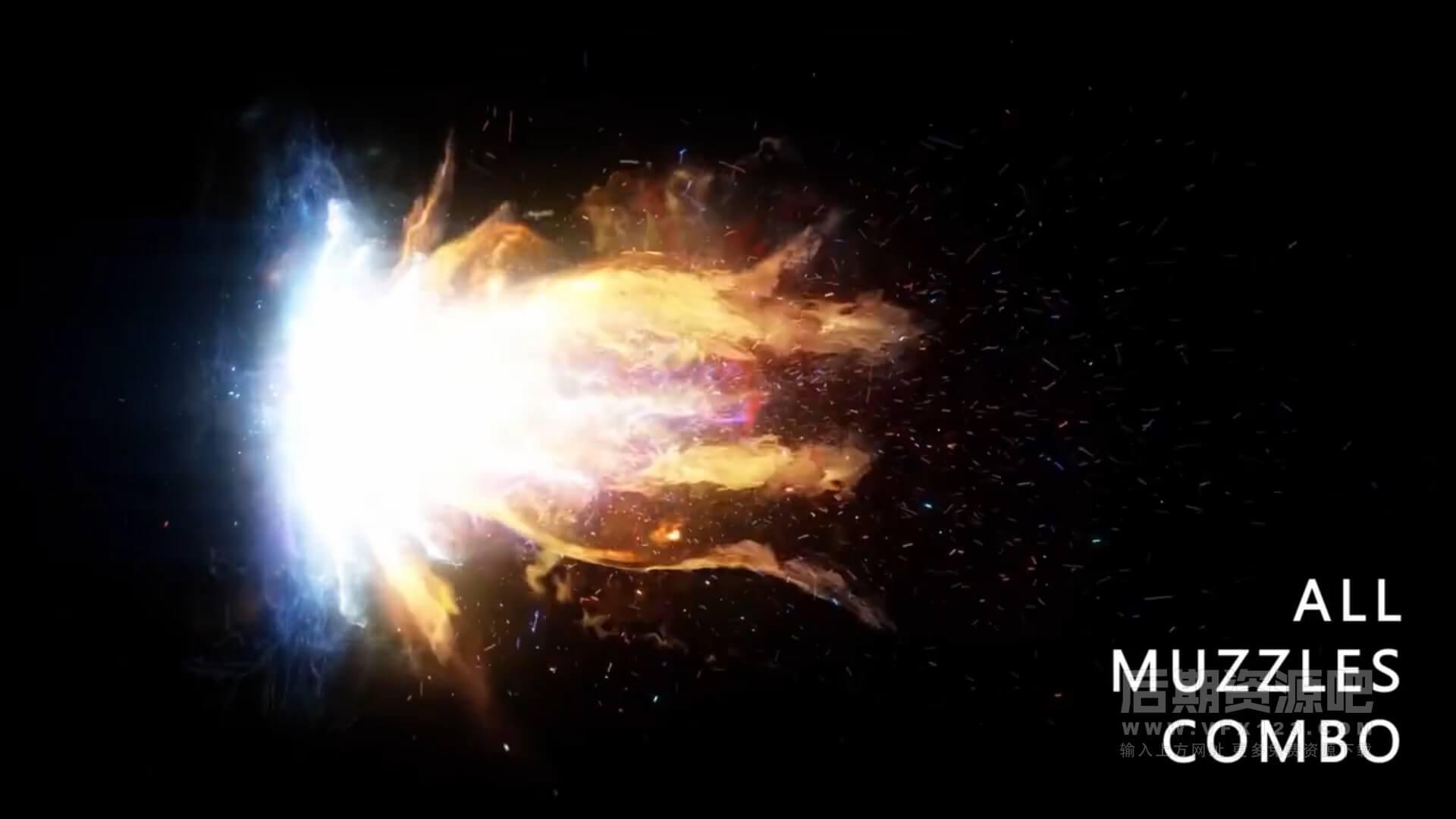 视频素材 115个4K科幻魔法能量冲击波火焰光线特效合成动态素材