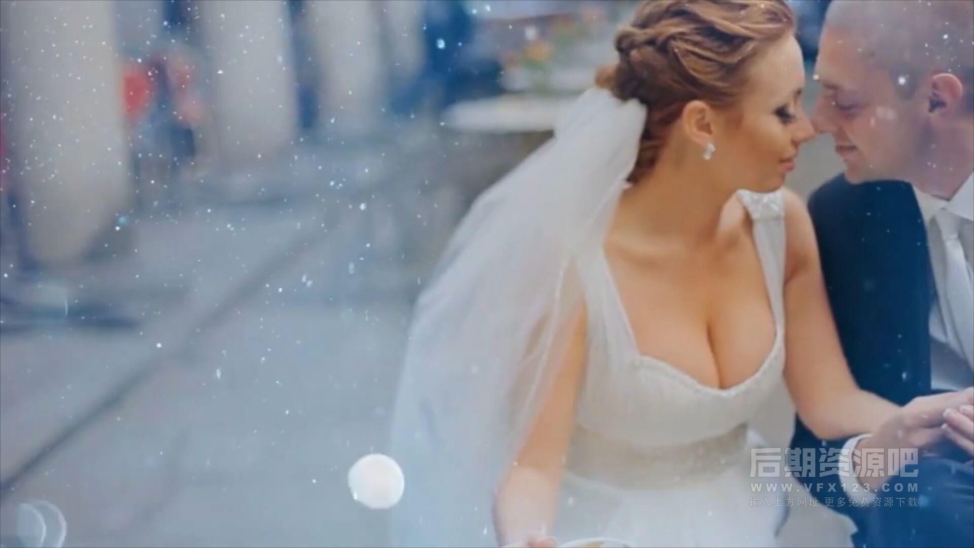 视频素材 20个唯美高贵奢华闪烁光斑粒子浪漫婚礼MV叠加动画