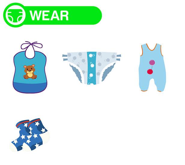 AE模板 50+卡通可爱儿童日常生活图标元素MG动画 Kids Elements Package