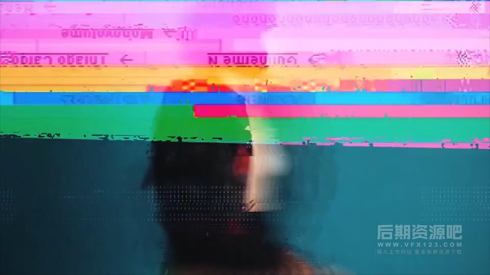 视频转场素材 20组信号干扰效果Vlog科技类常用转场 Glitch Transitions 4K