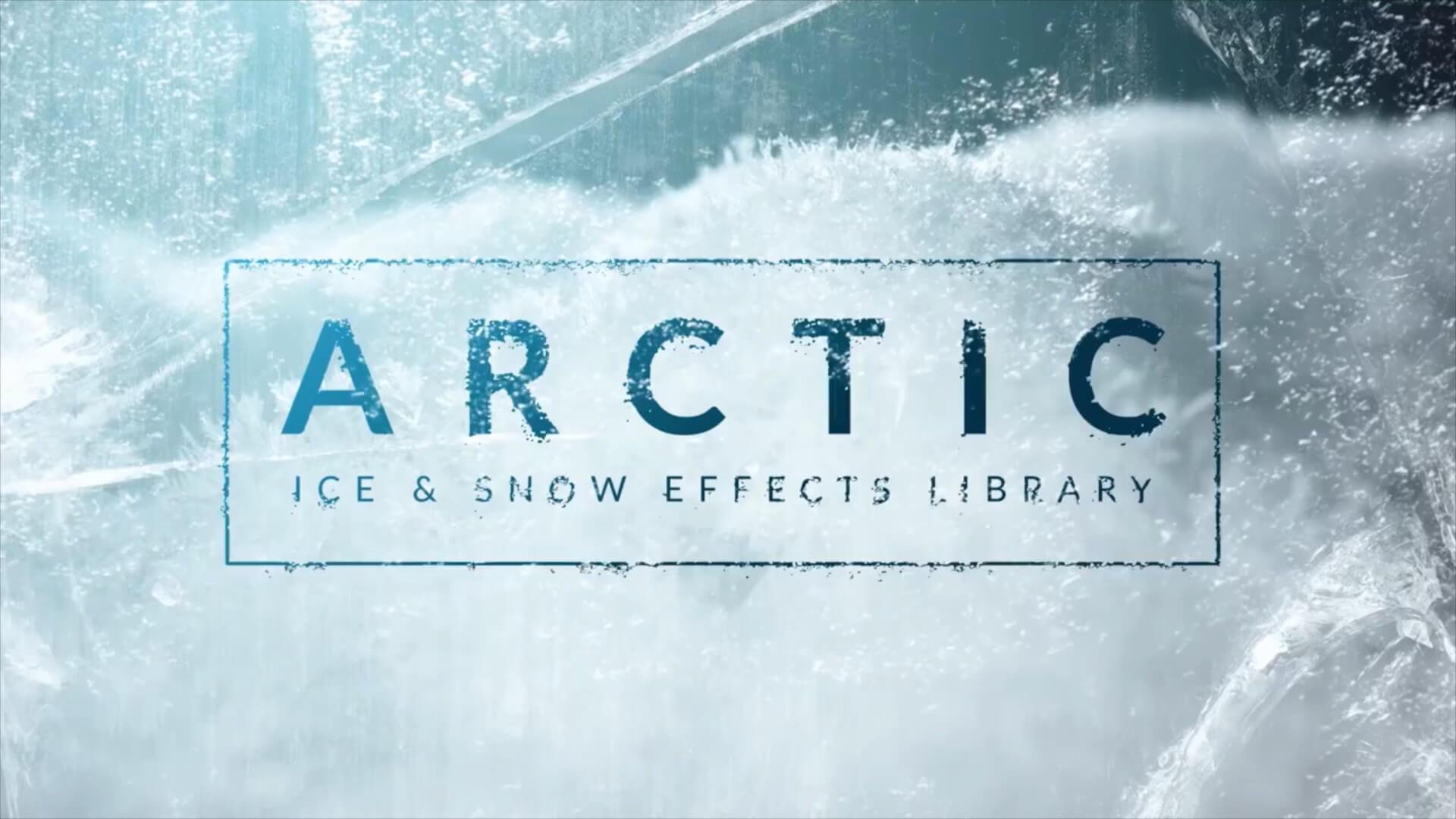 视频素材 79个4K下雪飘雪结冰冬天寒冷冰块破碎特效合成 Arctic
