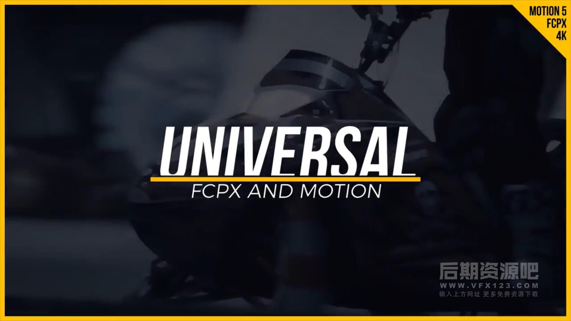 FCPX插件 30个现代时尚vlog常用文字标题排版设计动画