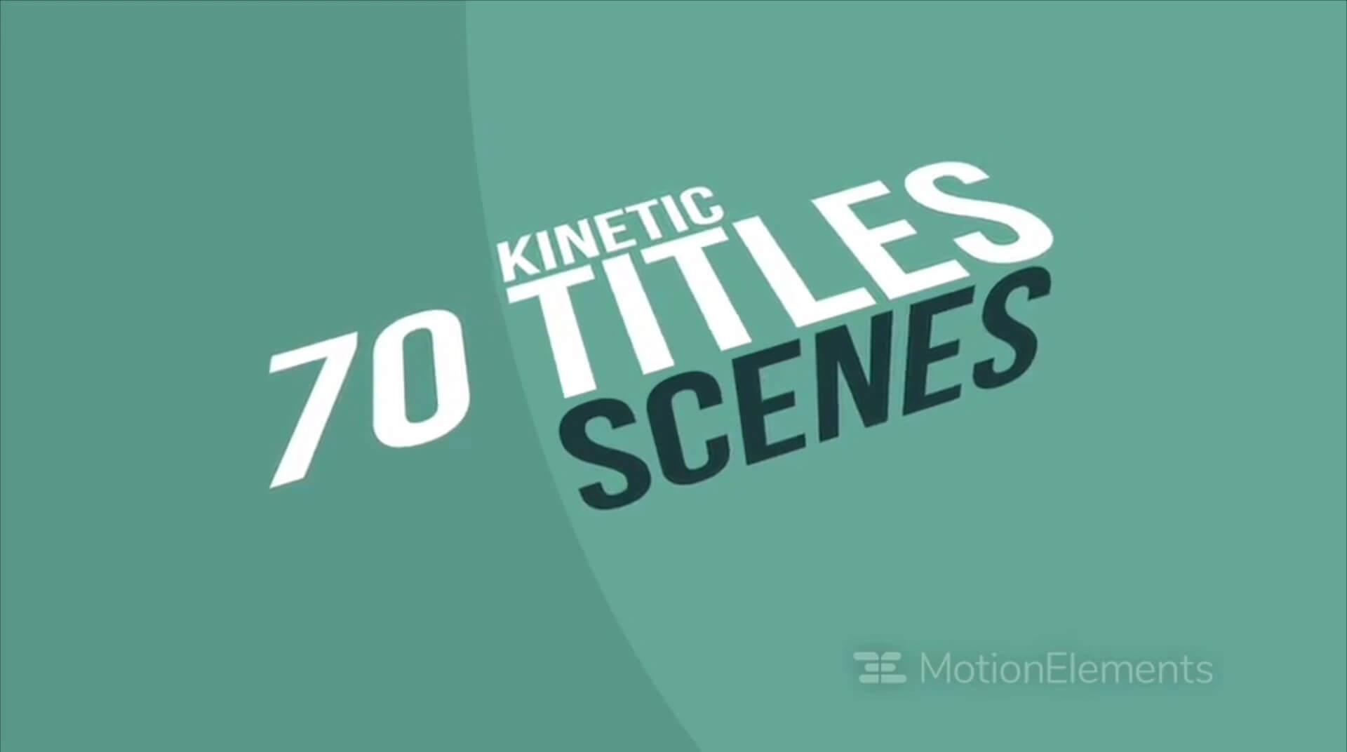 Fcpx文字排版动画 70个滚动翻转文字标题模板 支持中文 Kinetic Titles Scenes