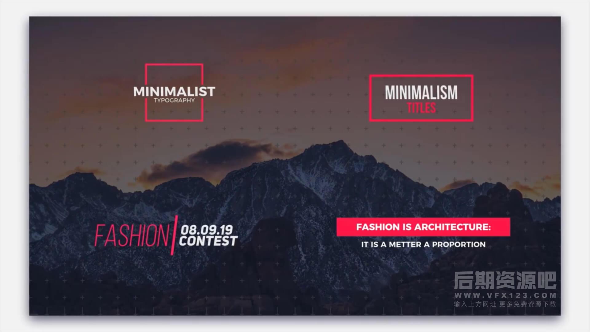 FCPX插件 28种现代简洁文字标题动画 Modern Minimalism Titles | MAC影视后期资源站