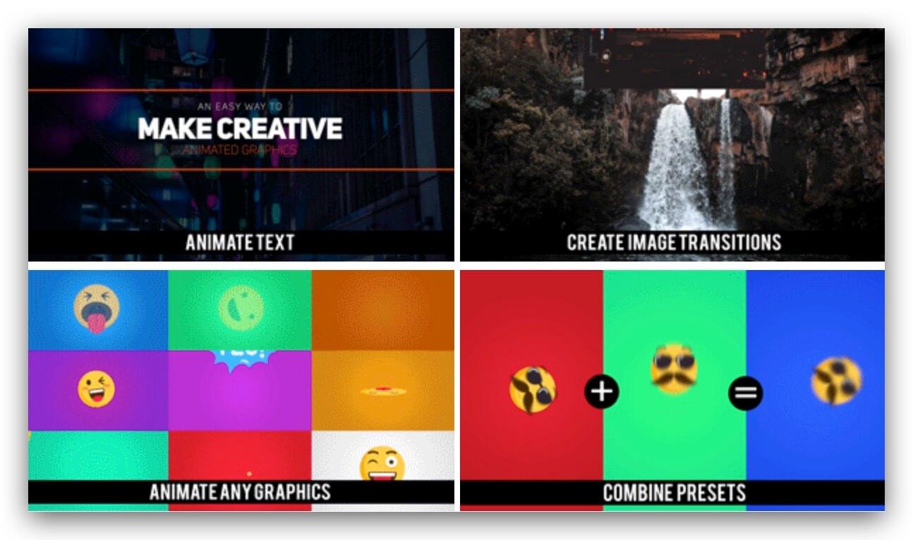 FCPX插件 110组图层出入动画效果预设包 制作文本图形动画工具