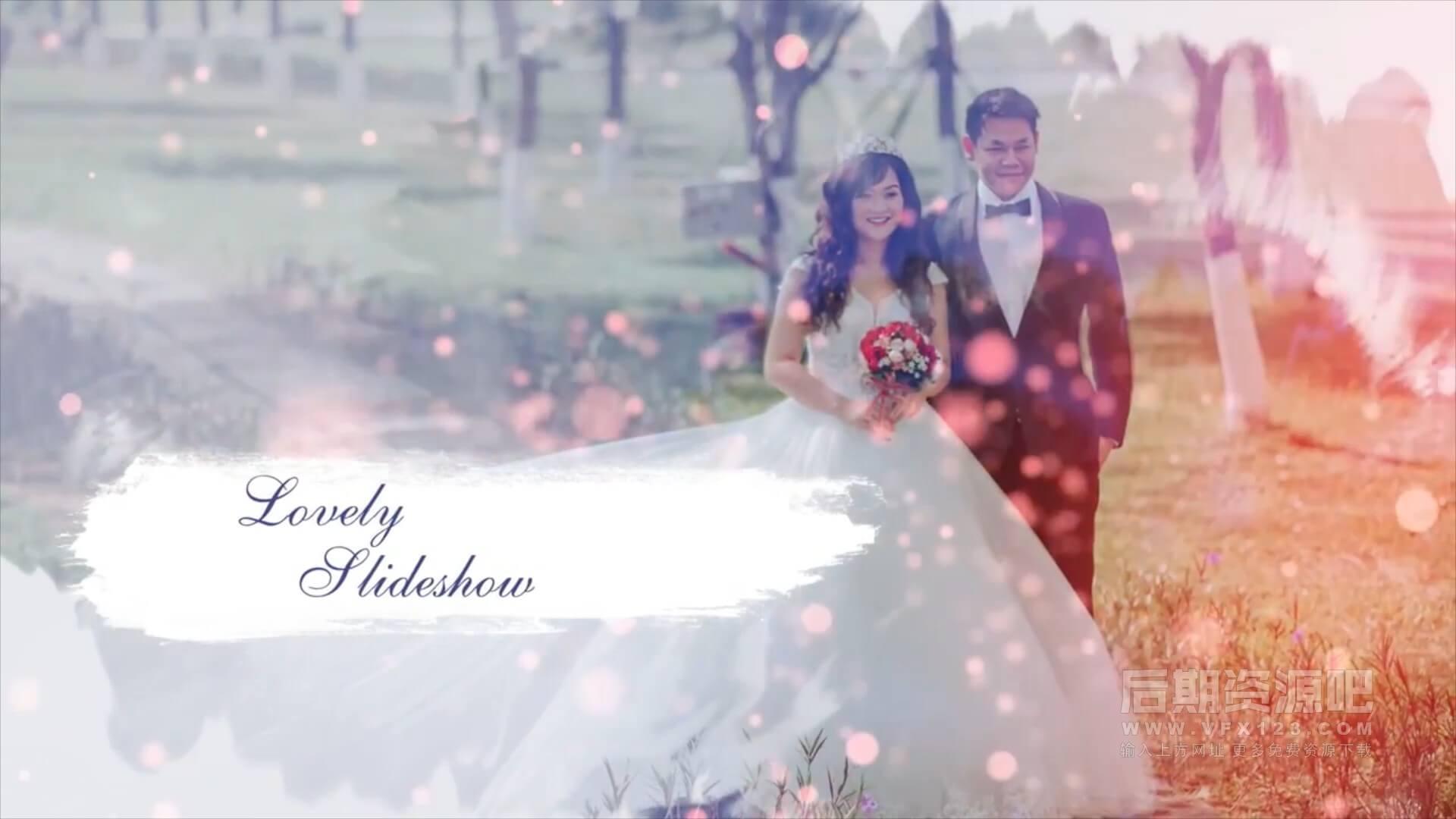 fcpx主题模板 优雅水墨效果浪漫婚礼开场 Wedding Slideshow | MAC影视后期资源站