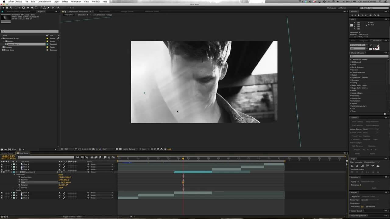 视频素材 30组华丽4K镜头扭曲失真漏光耀斑 含AE工程文件 Legacy