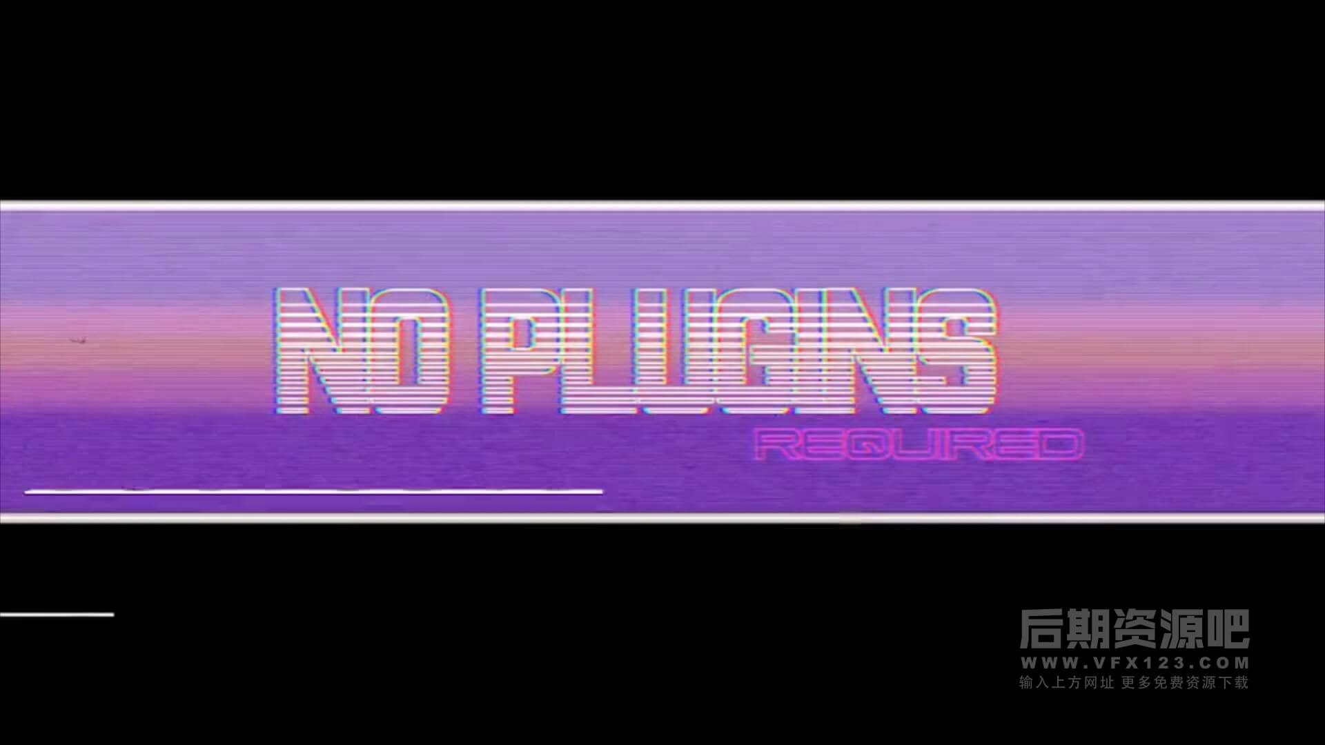 Fcpx标题插件 复古风格旧电影色彩分离特效预设 VHS Pack