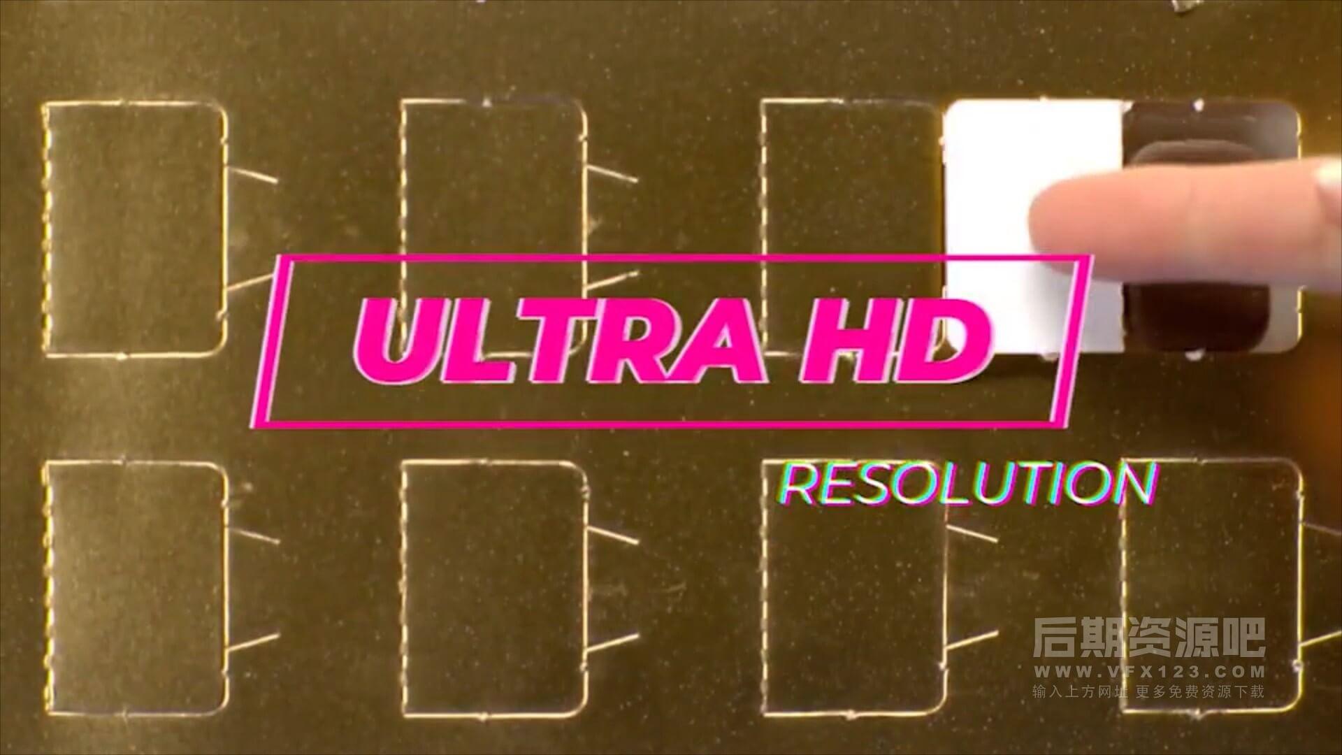 Fcpx标题插件 复古风格旧电影录像文字标题干扰杂波色彩分离特效预设 | MAC影视后期资源站
