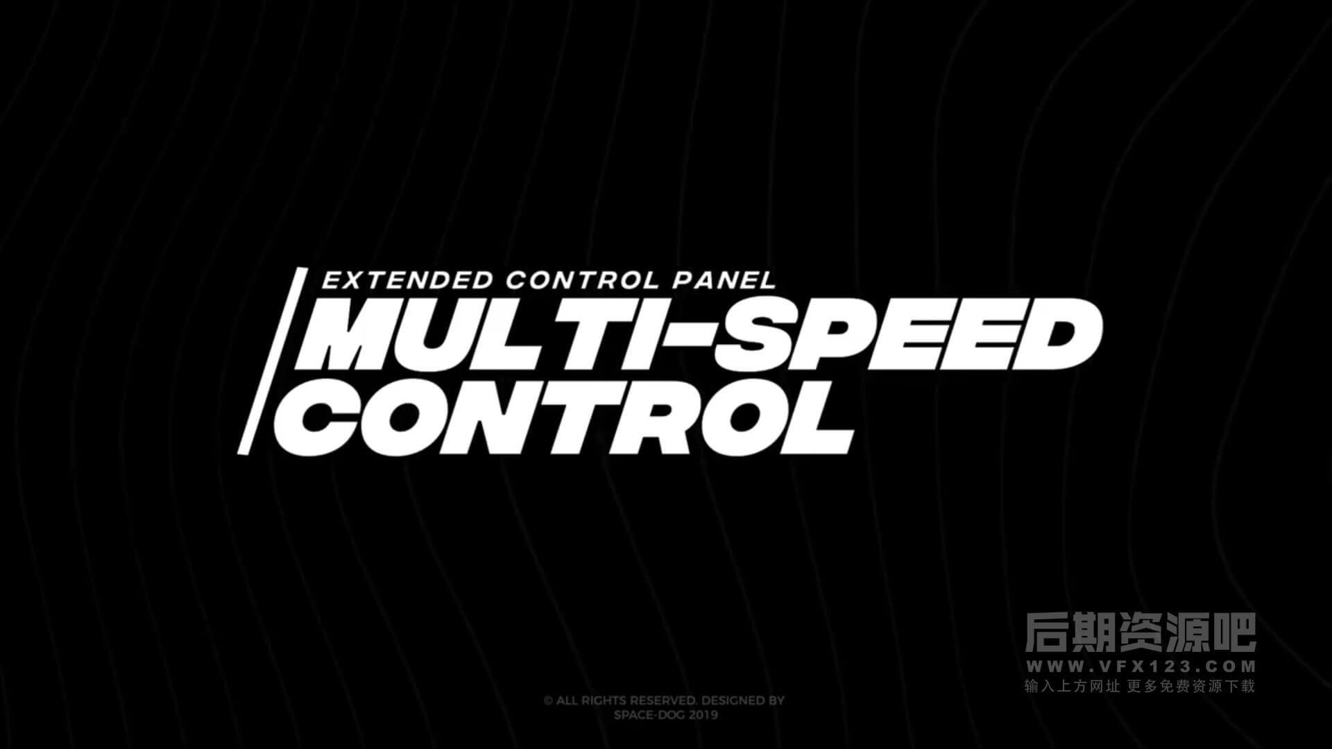 FCPX标题插件 22个黑白风格大字快闪片头字幕模板