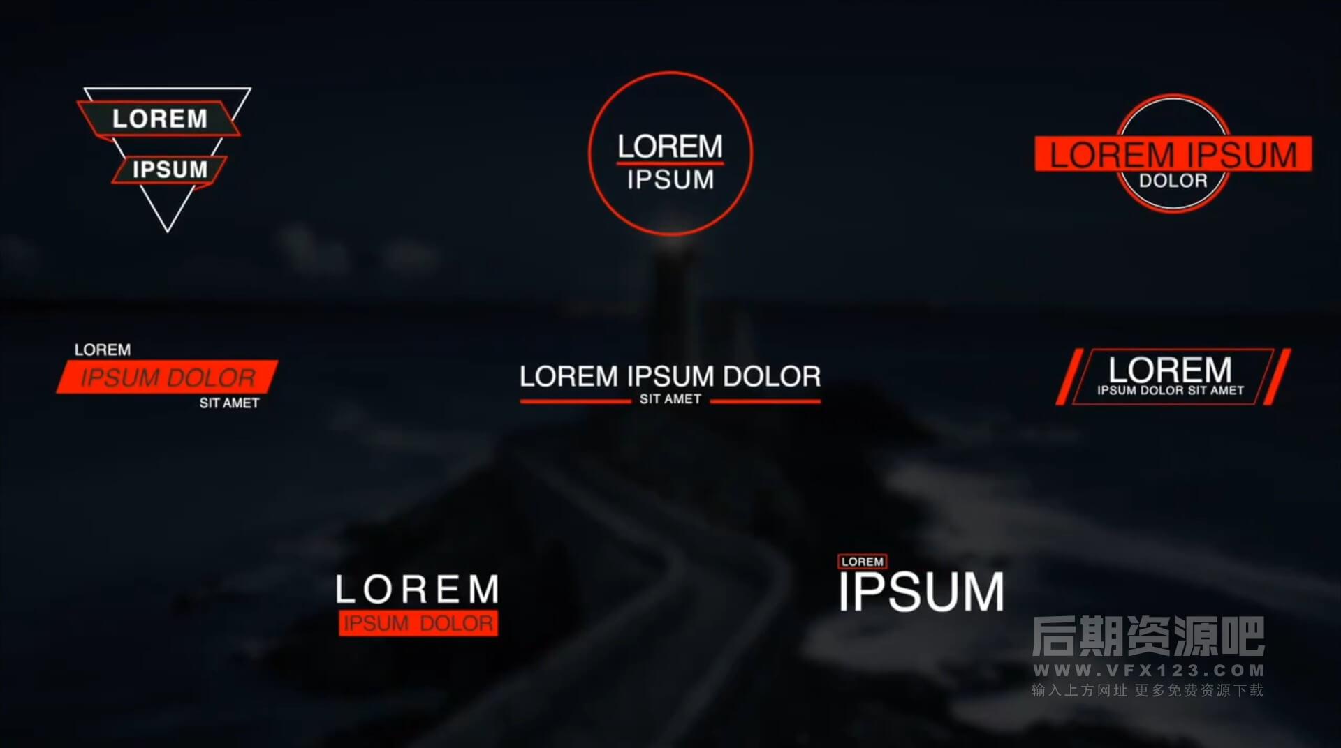 FCPX标题插件 40组简约大方字幕文字标题模板 Simple Titles