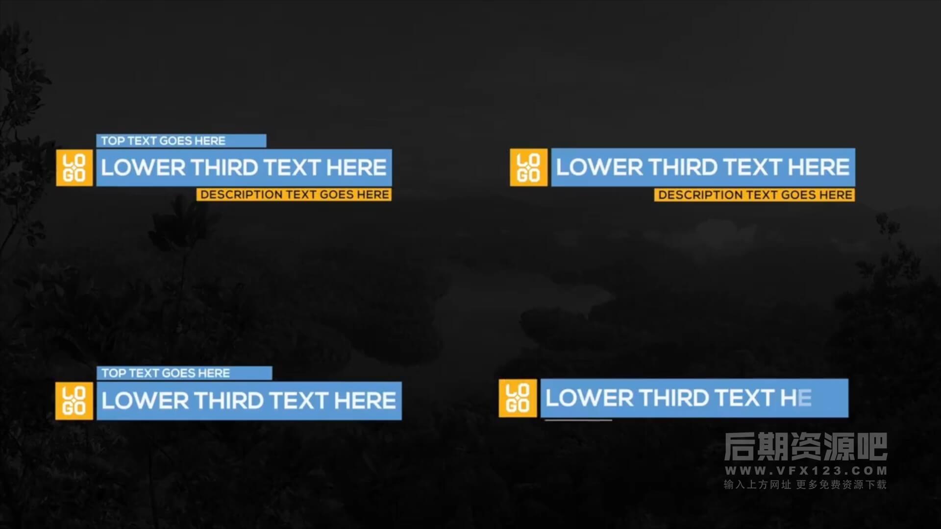 fcpx插件 100个简洁大方4K字幕条标题图形转场预设动画 FCP Titles Toollkit | MAC影视后期资源站