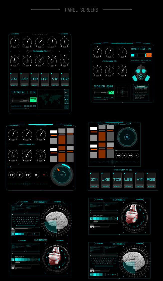 AE模板 500个HUD科技感银河系军事雷达武器动态UI元素包 | MAC影视后期资源站