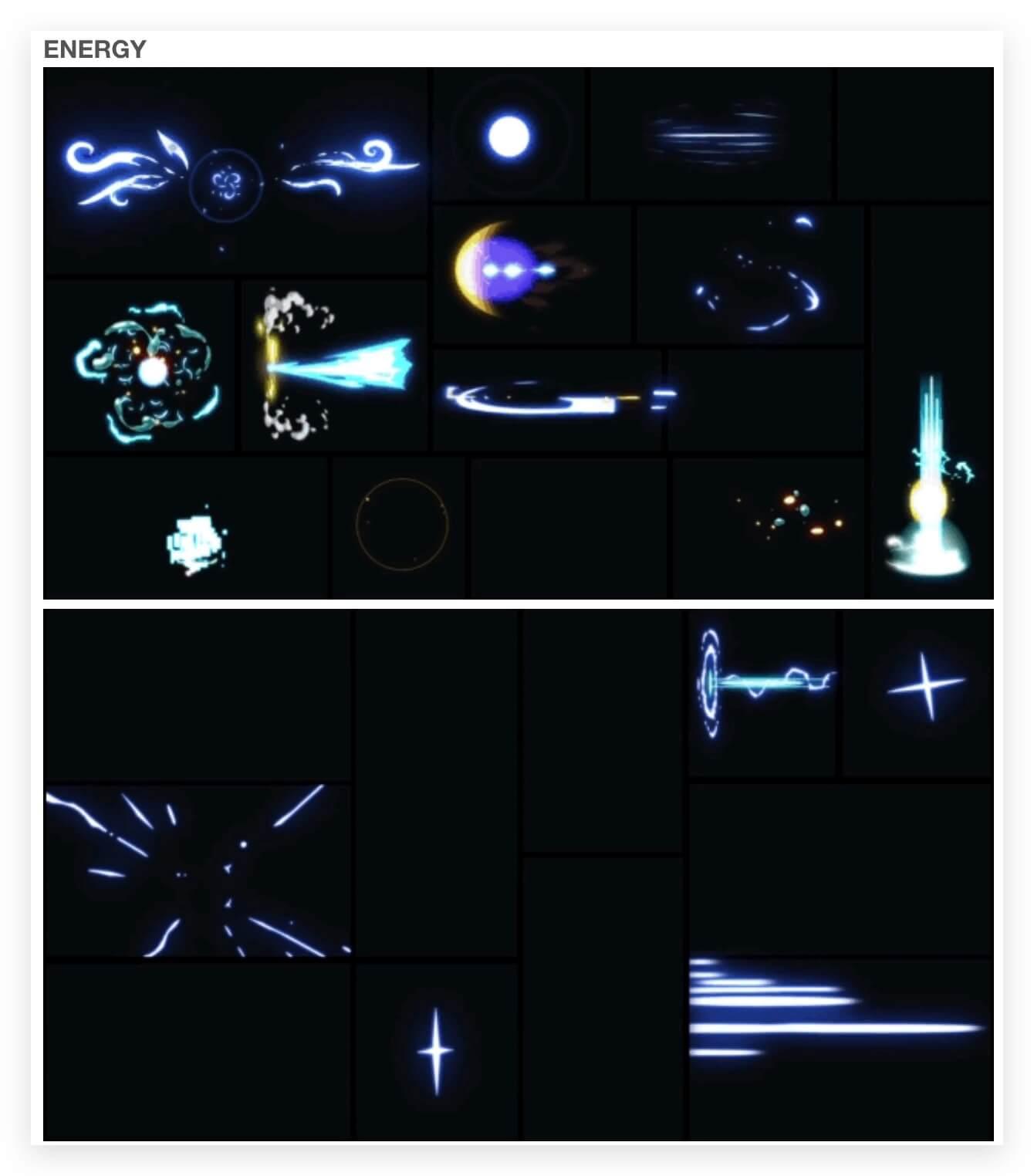 AE模板+脚本 1000组手绘游戏火焰烟雾水流雷电能量MG动画+通道V2