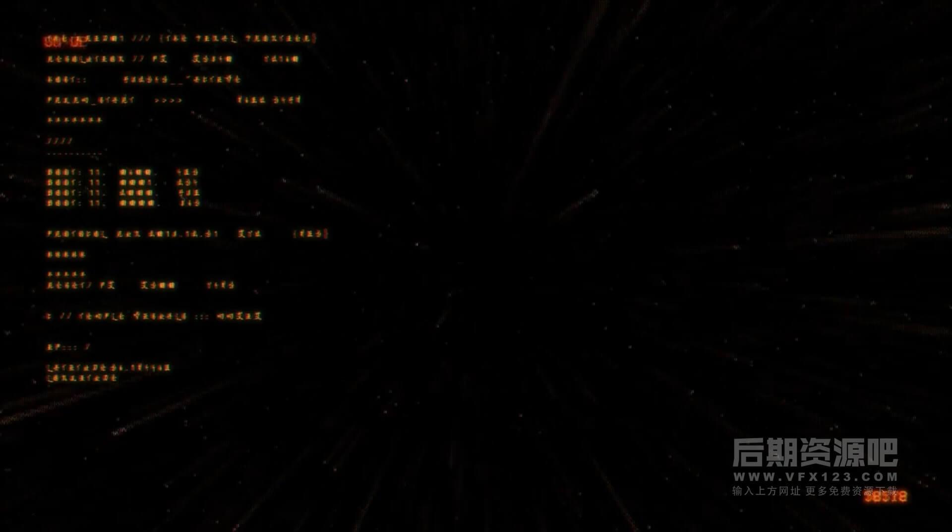视频素材 43个复古电影街机游戏科幻屏幕信号干扰视觉特效画面 | MAC影视后期资源站