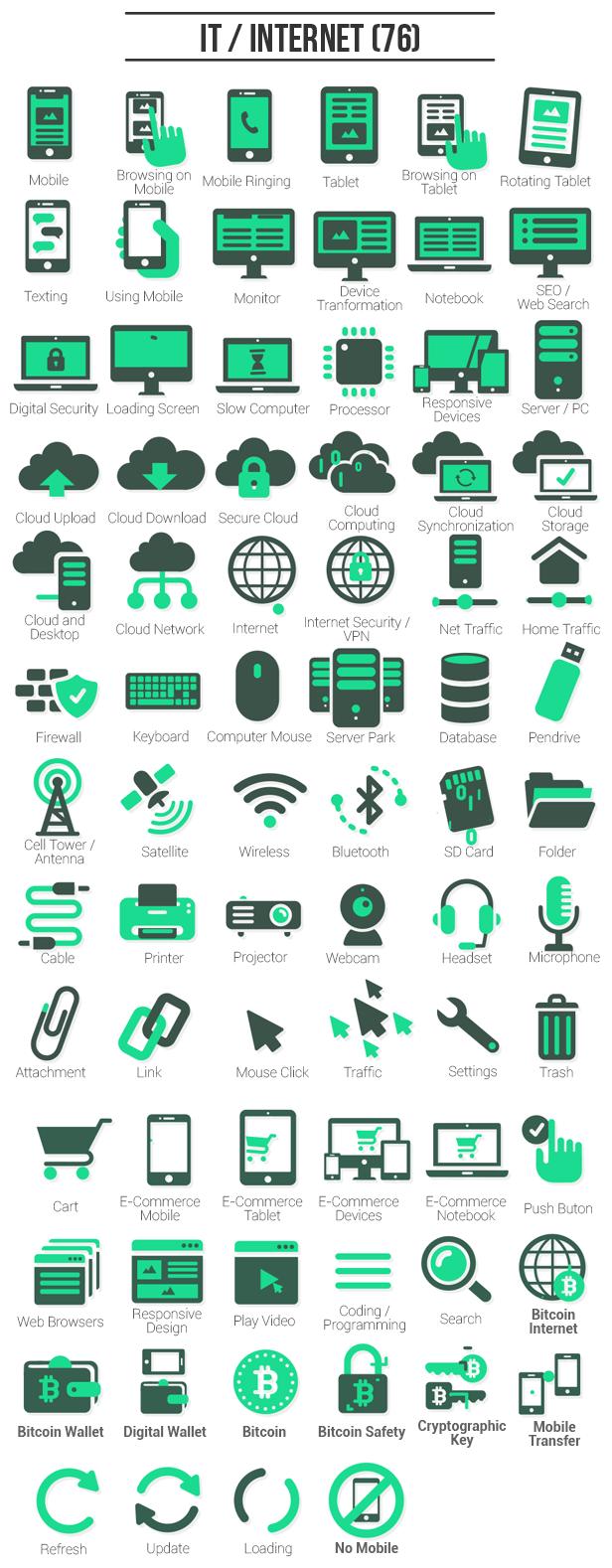 AE模板 555个各行业ICONS动画图标 旅游IT科技商务表情运动等 带音效 v12