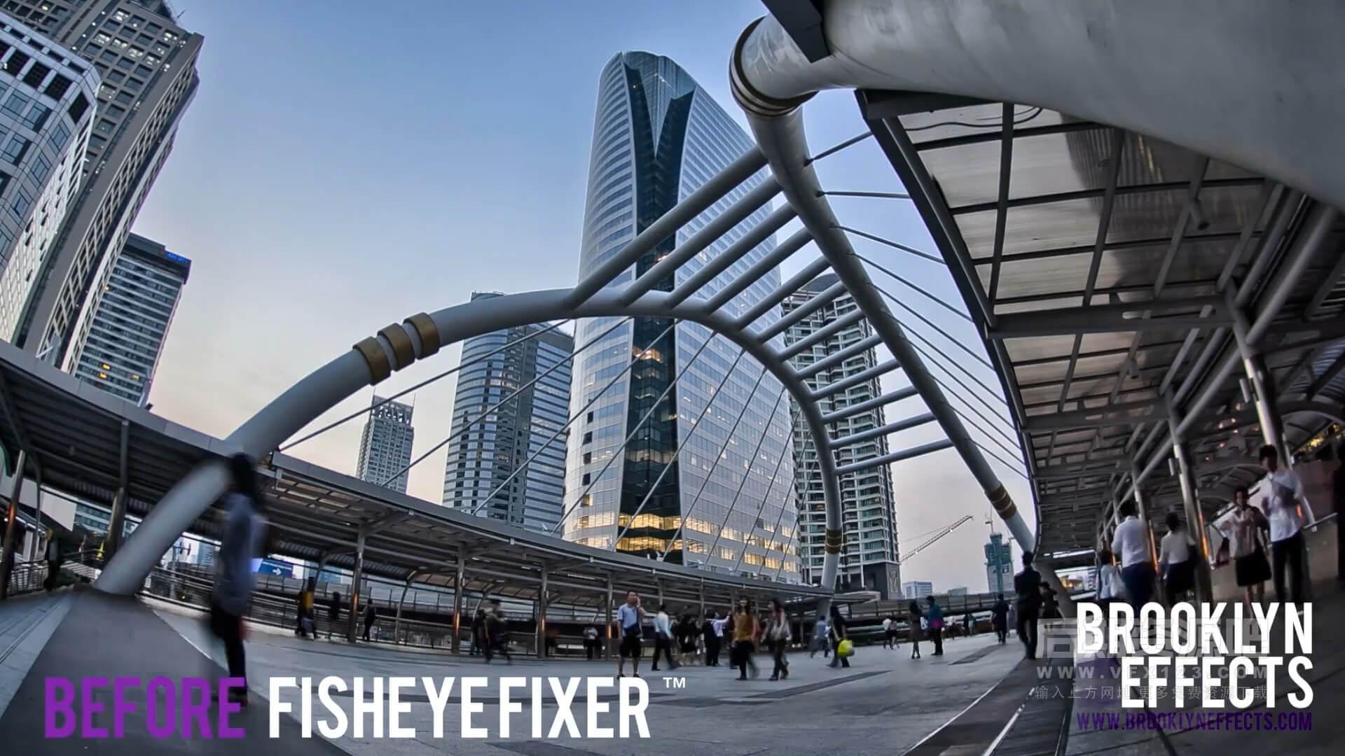 fcpx插件 鱼眼去除工具 消除广角鱼眼镜头边缘扭曲插件