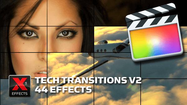 FCPX转场插件 44个动态高科技转场效果 支持M1 XEffects Tech Transitions