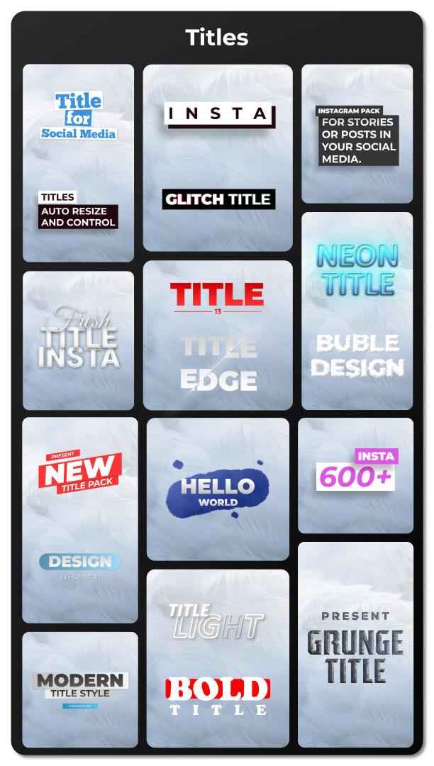 Ae模板 700+手机竖屏快手抖音短视频制作模板 标题排版图表促销等