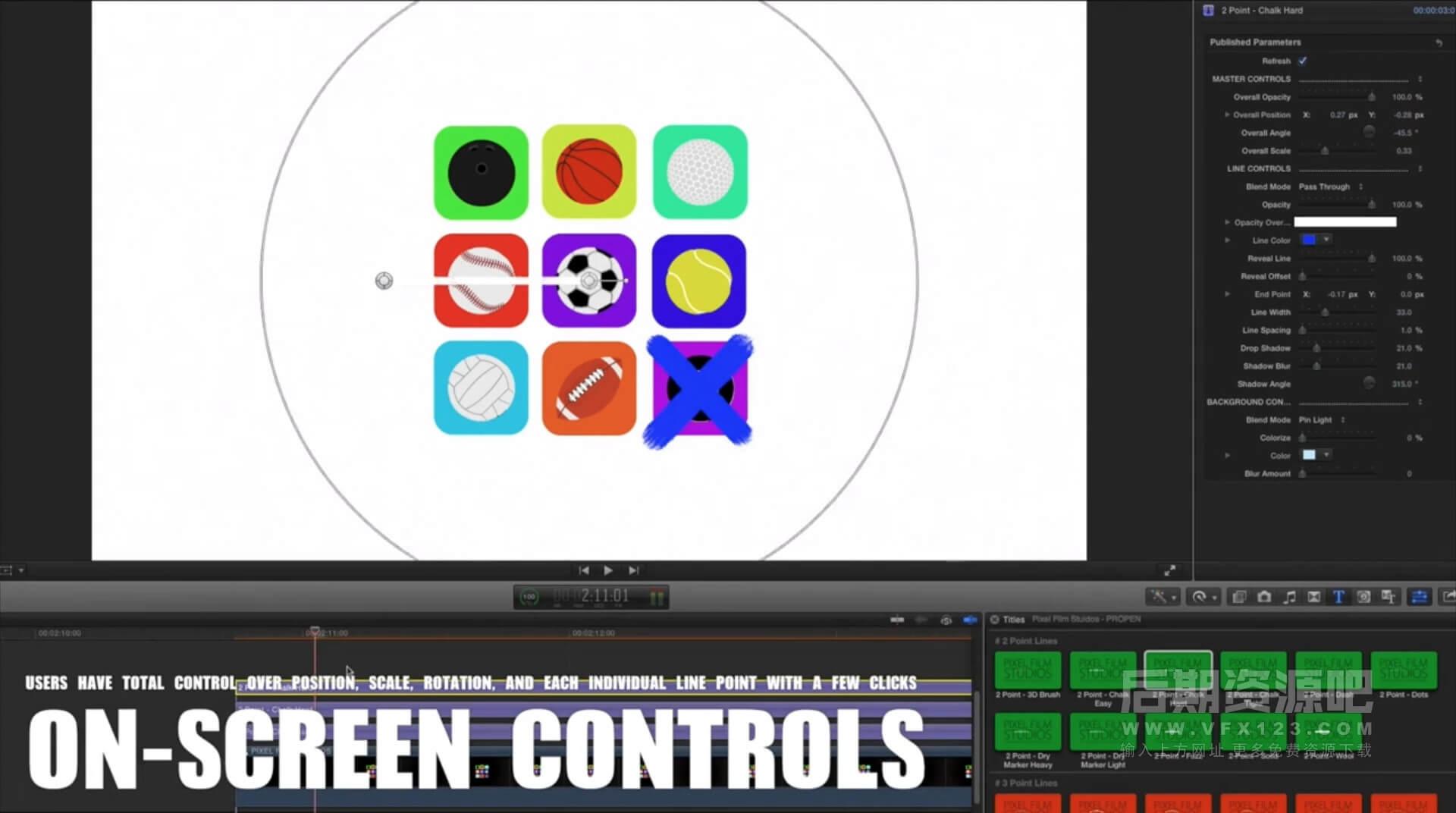 FCPX插件 画笔记号标注标记箭头放大镜视频大头效果 ProPen