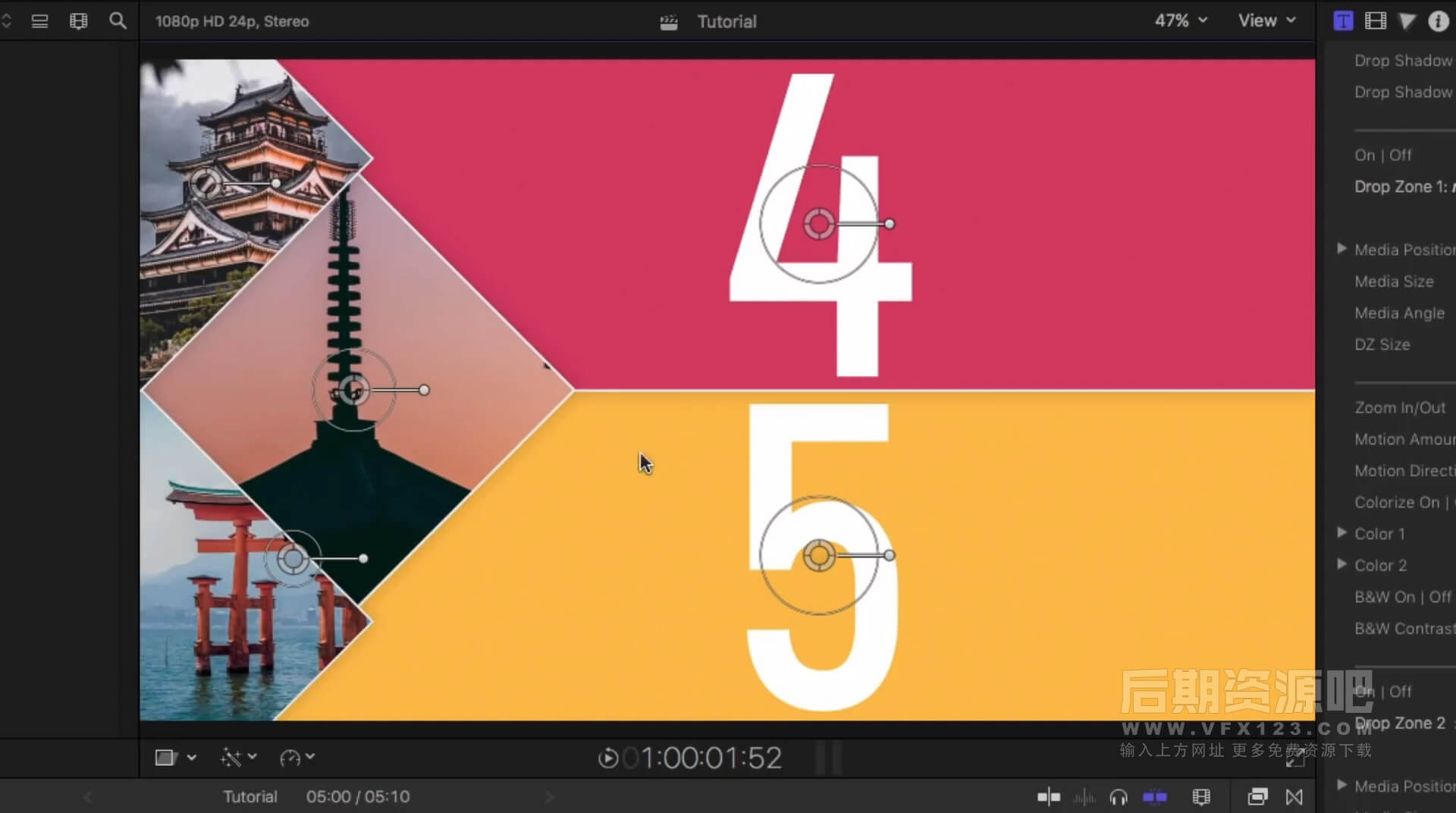 FCPX插件 25组动态分屏样式屏幕分割动画制作 Simple Split Screens