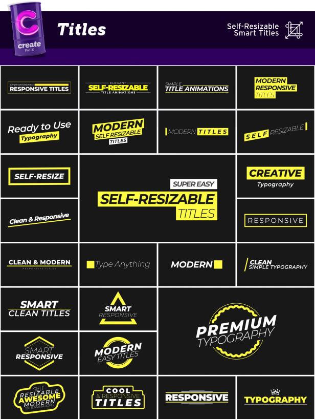 AE脚本 3600组字幕条标题图形背景转场社交图文排版设计动画预设