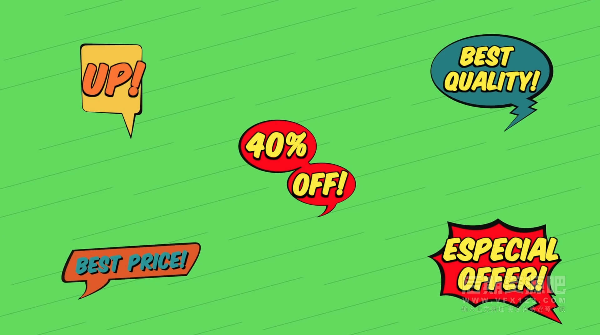 FCPX标题插件 20组卡通手绘漫画风格综艺气泡搞笑动画模板 Comic Titles | MAC影视后期资源站
