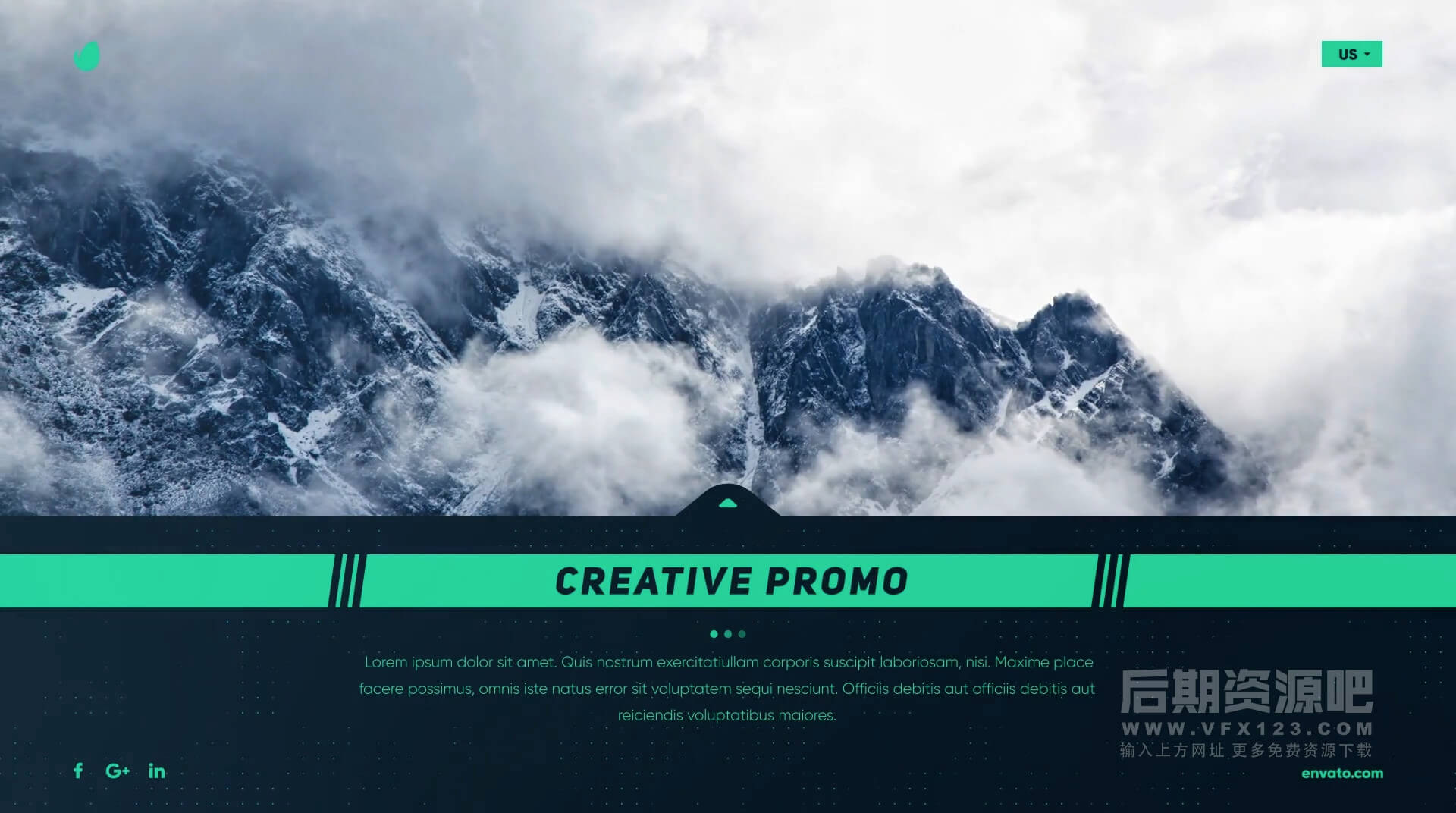Ae模板 4K简洁大方企业商务边栏标题开场动画模板 Corporate Slides and Titles