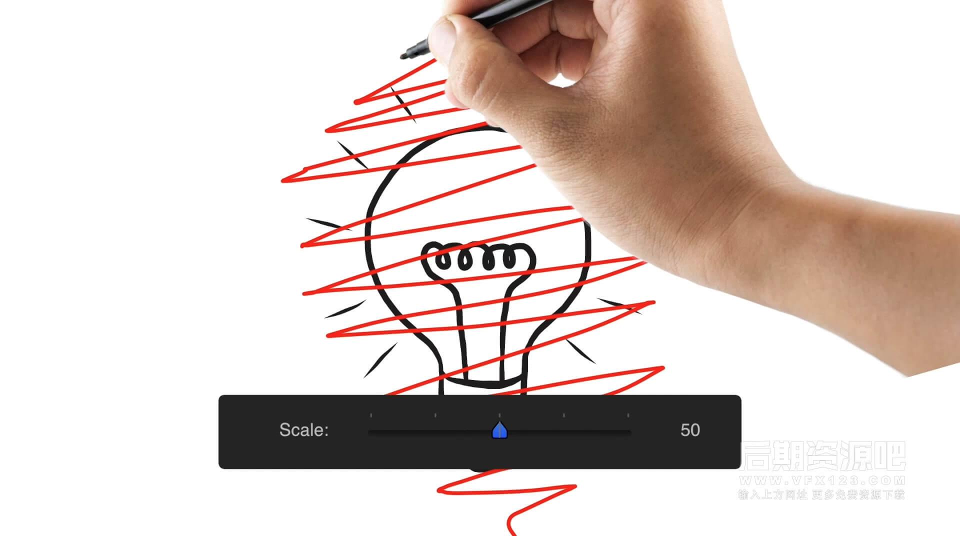 FCPX实时动画插件 文字图片视频沿手绘路径运动效果制作工具 PROKEYFRAME 支持10.4.6