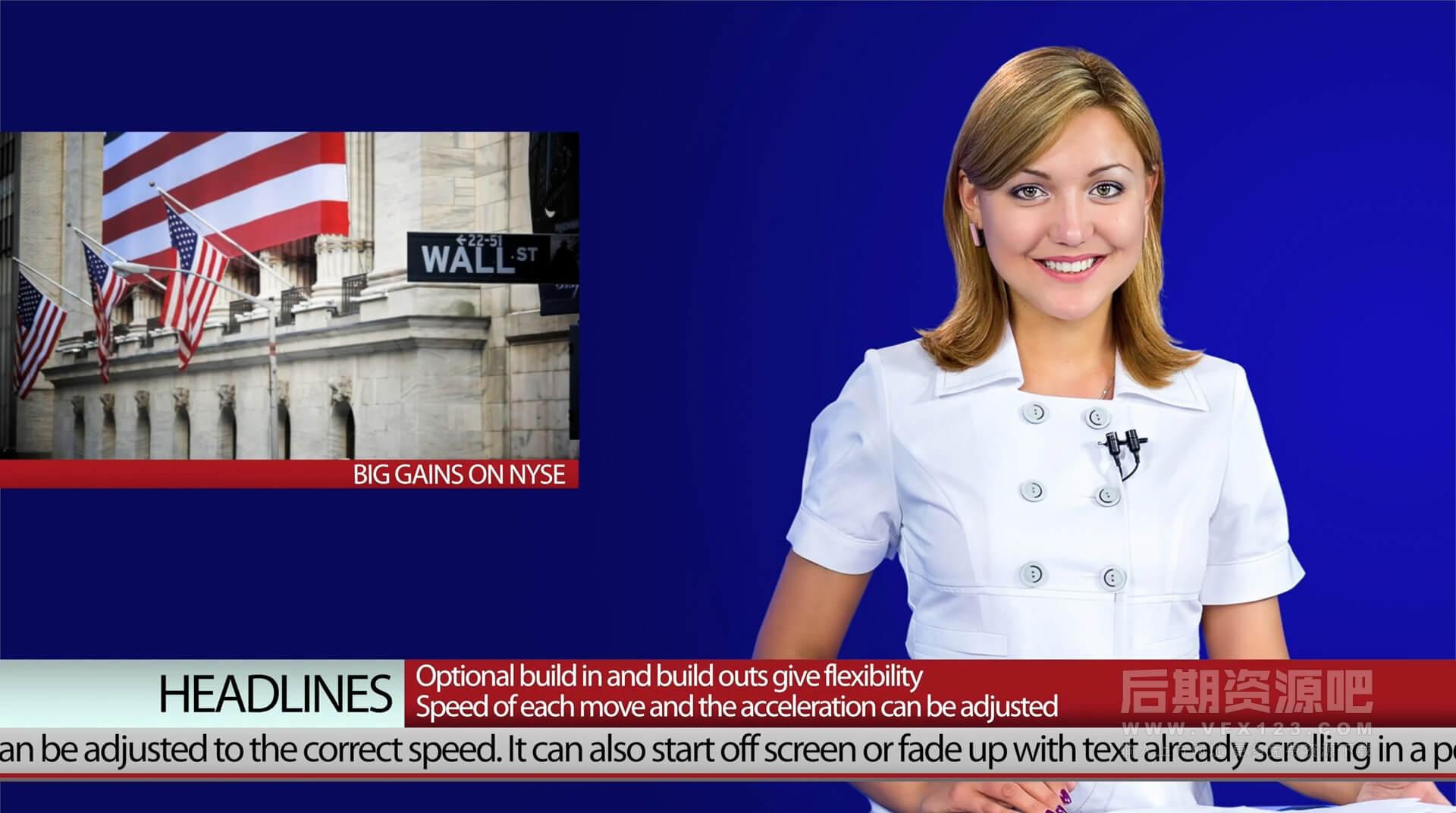 FCPX插件 动态新闻广播简报直播栏目包装字幕条转场等 XEFFECTS NEWS GRAPHICS